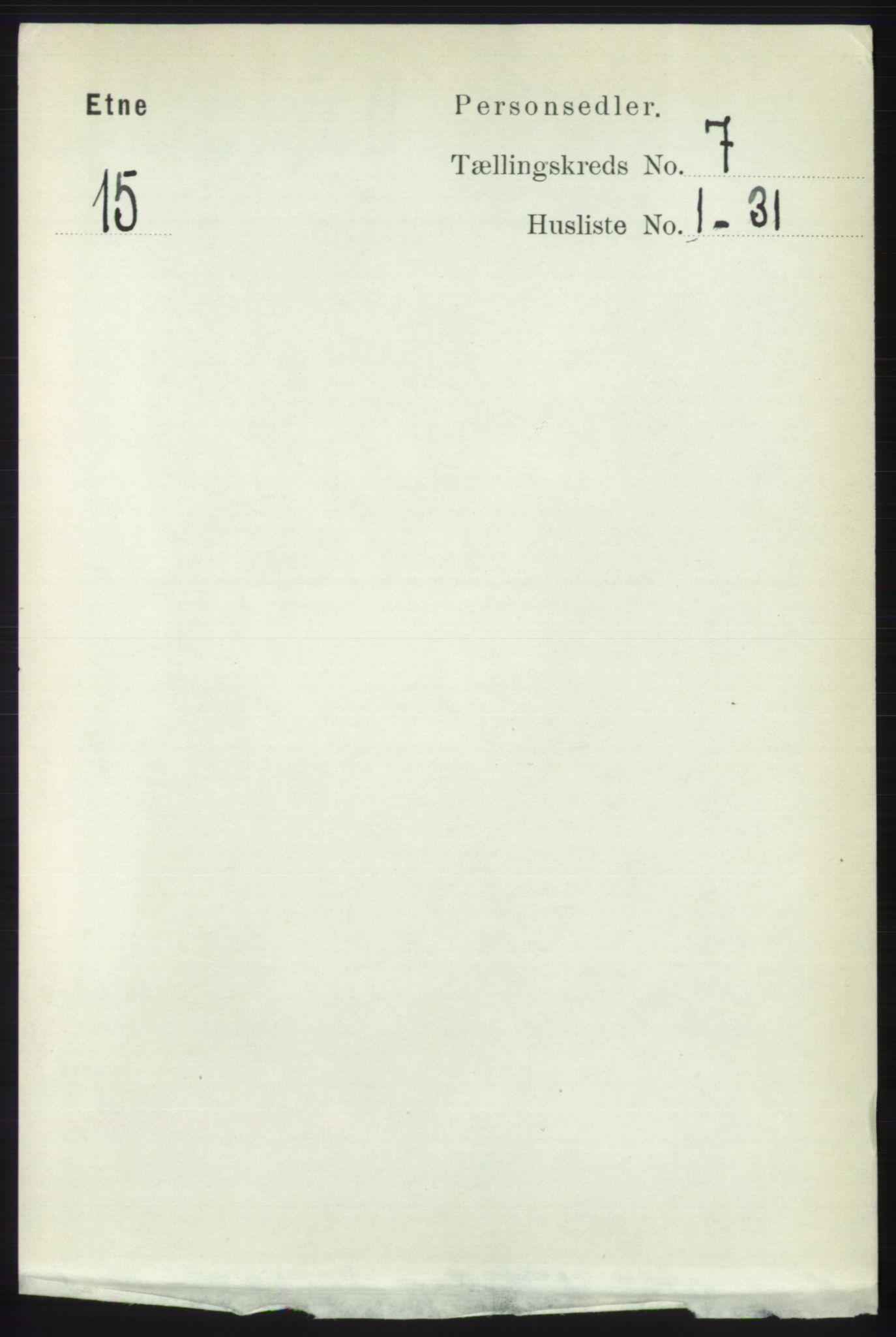 RA, Folketelling 1891 for 1211 Etne herred, 1891, s. 1391