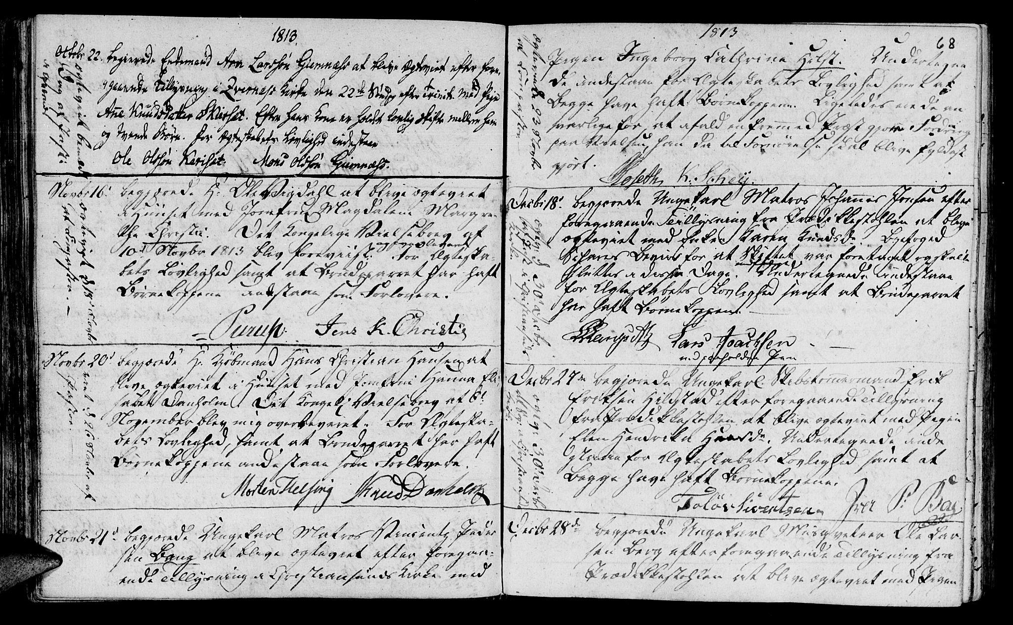 SAT, Ministerialprotokoller, klokkerbøker og fødselsregistre - Møre og Romsdal, 568/L0795: Ministerialbok nr. 568A04, 1802-1845, s. 68