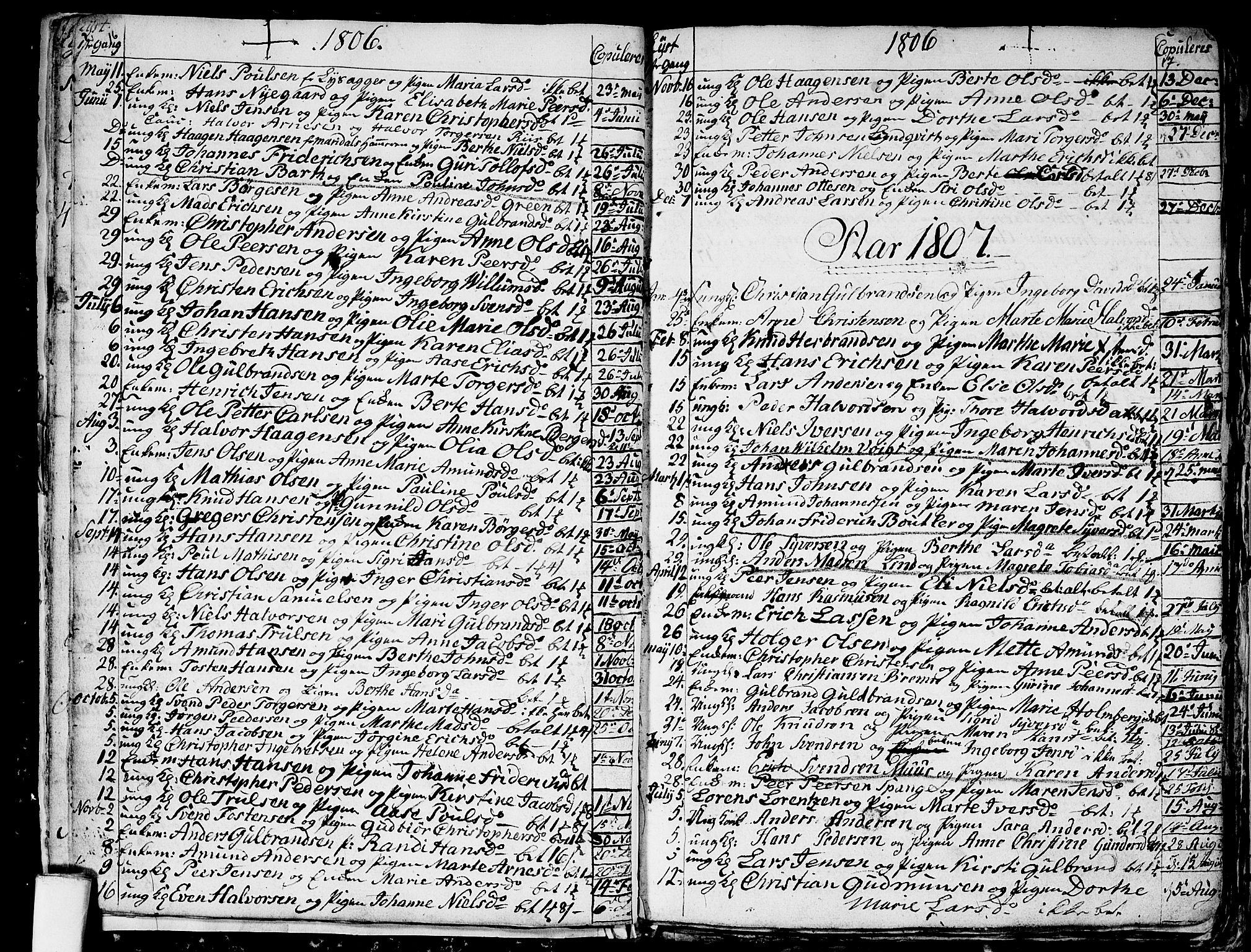 SAO, Aker prestekontor kirkebøker, G/L0001: Klokkerbok nr. 1, 1796-1826, s. 16-17