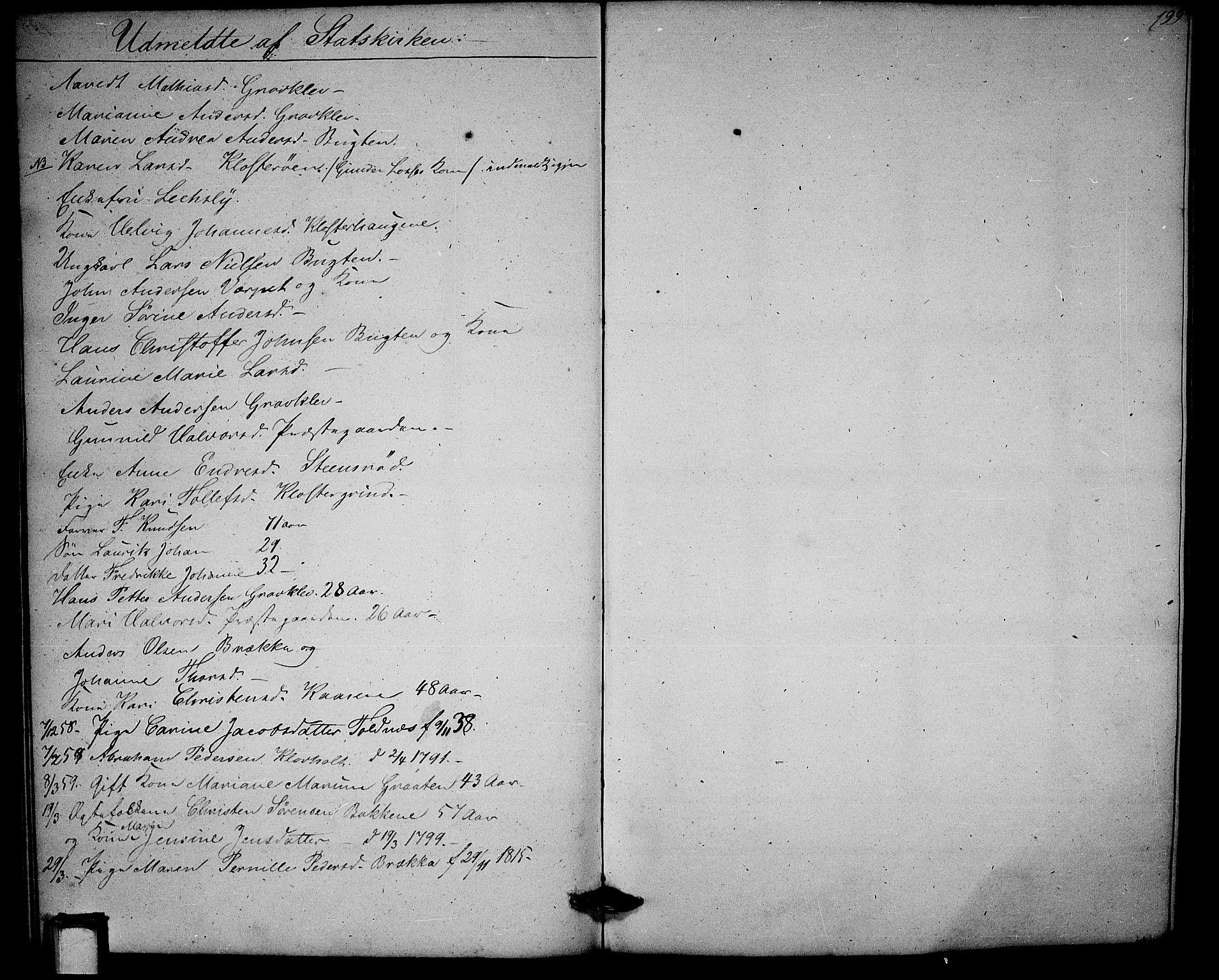 SAKO, Solum kirkebøker, G/Ga/L0003: Klokkerbok nr. I 3, 1848-1859, s. 199