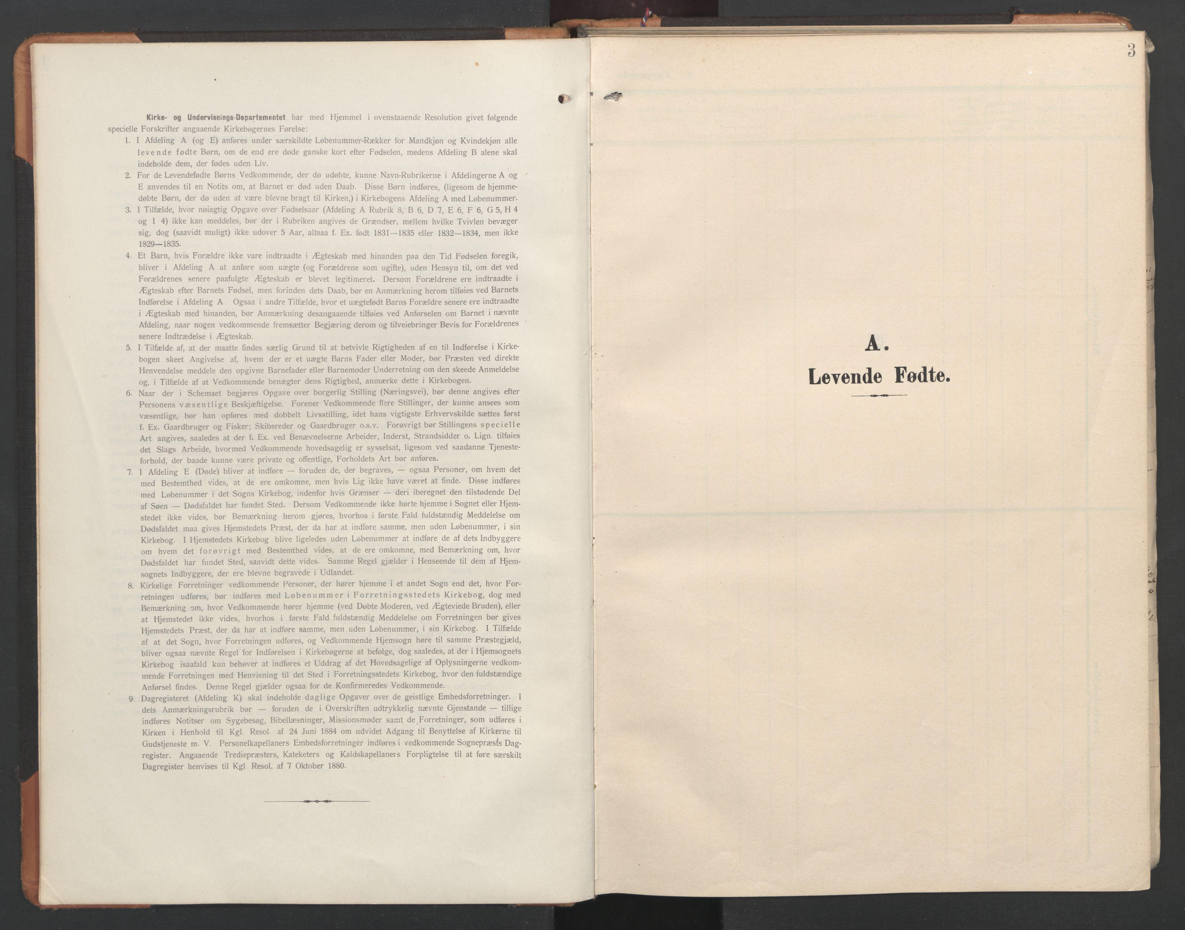 SAT, Ministerialprotokoller, klokkerbøker og fødselsregistre - Nord-Trøndelag, 746/L0455: Klokkerbok nr. 746C01, 1908-1933, s. 3