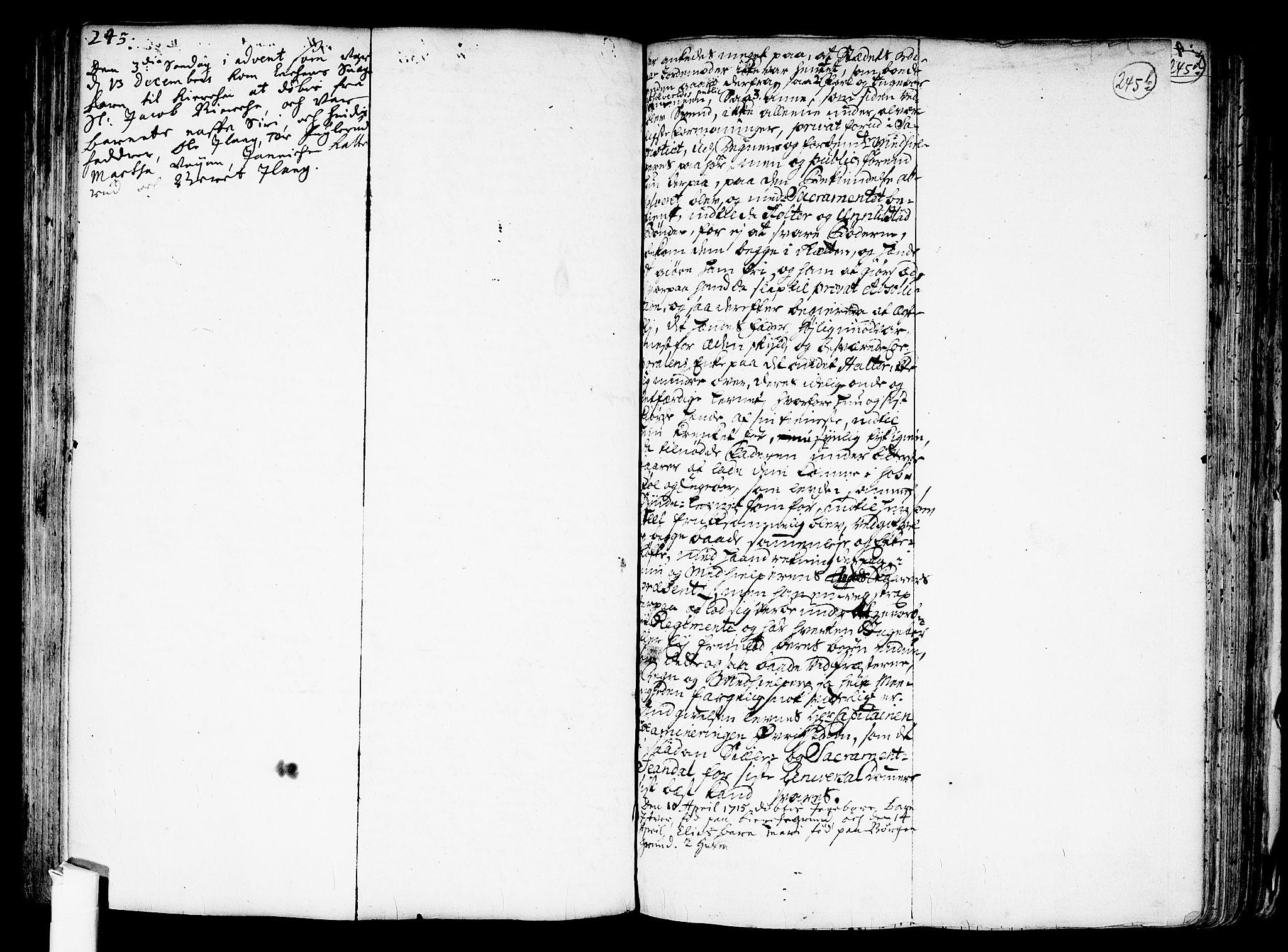 SAO, Nes prestekontor Kirkebøker, F/Fa/L0001: Ministerialbok nr. I 1, 1689-1716, s. 245