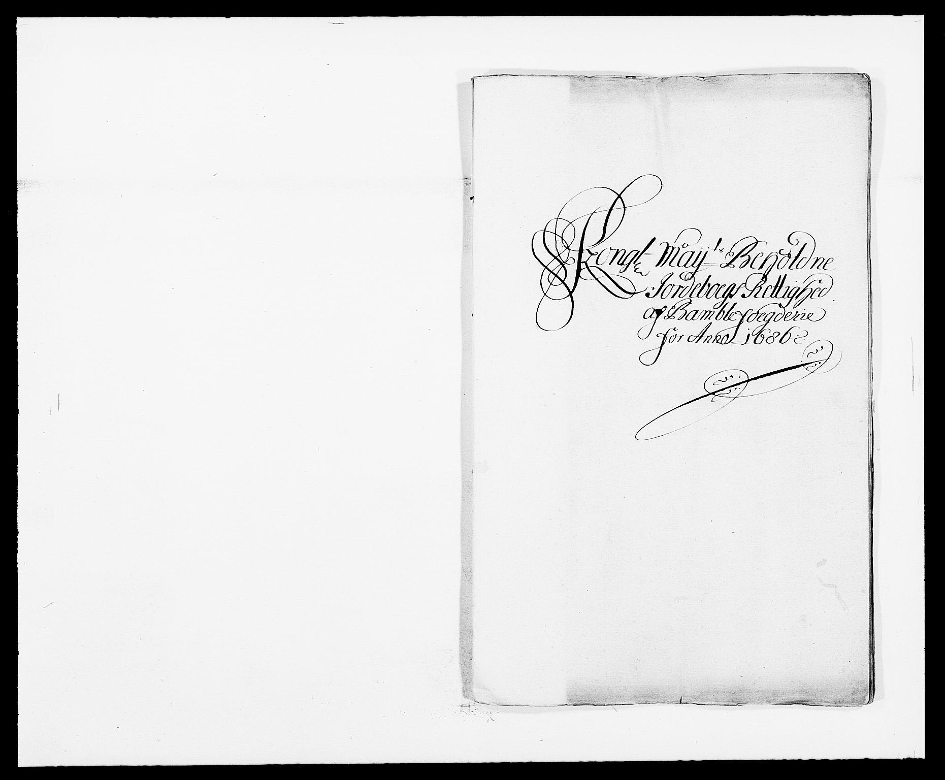RA, Rentekammeret inntil 1814, Reviderte regnskaper, Fogderegnskap, R34/L2049: Fogderegnskap Bamble, 1685-1687, s. 1
