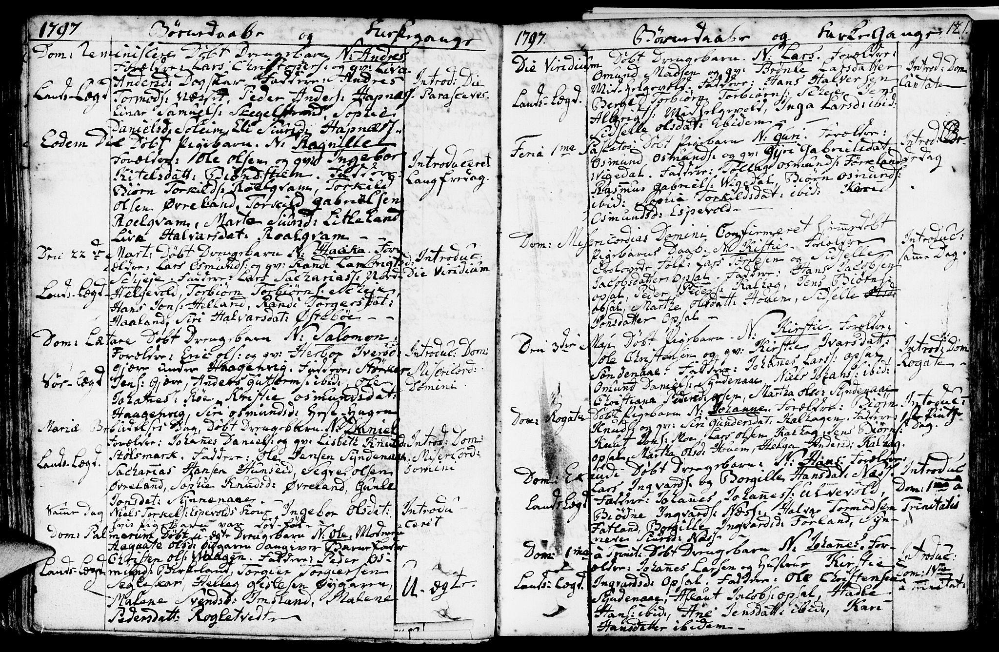 SAST, Vikedal sokneprestkontor, IV: Ministerialbok nr. A 2, 1779-1817, s. 121