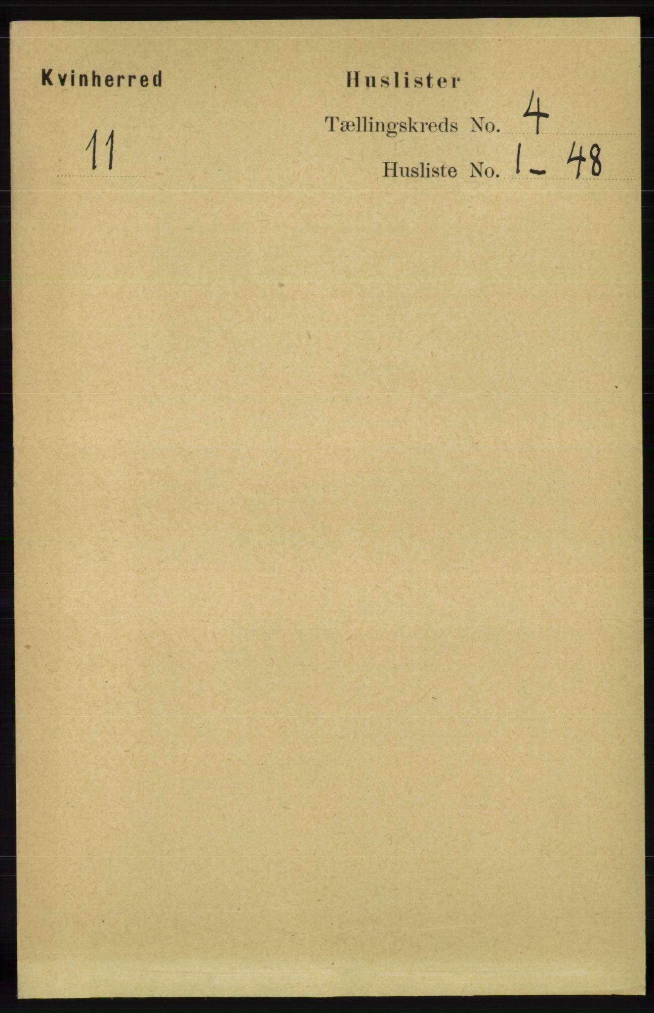 RA, Folketelling 1891 for 1224 Kvinnherad herred, 1891, s. 1333