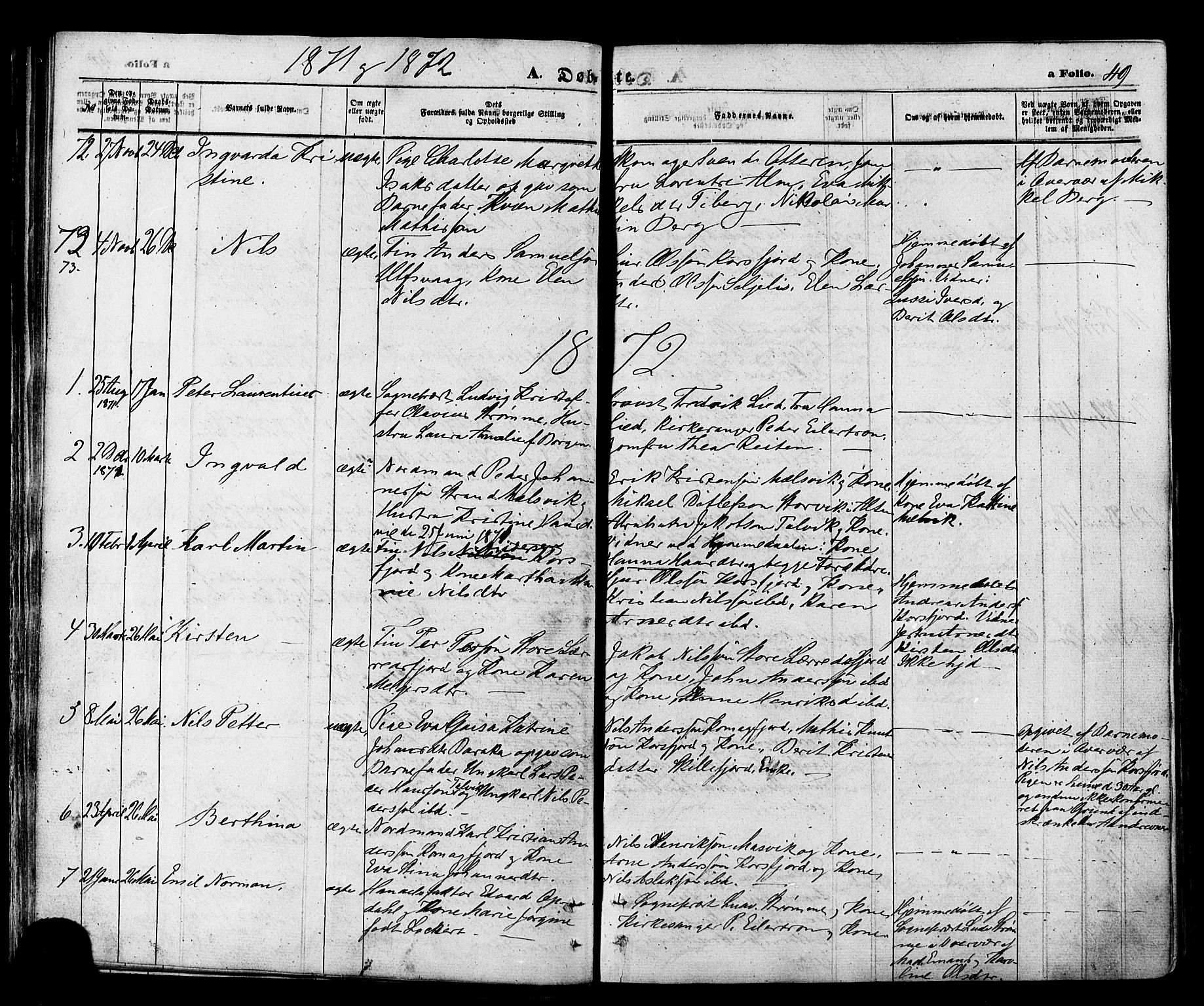SATØ, Talvik sokneprestkontor, H/Ha/L0011kirke: Ministerialbok nr. 11, 1864-1877, s. 49