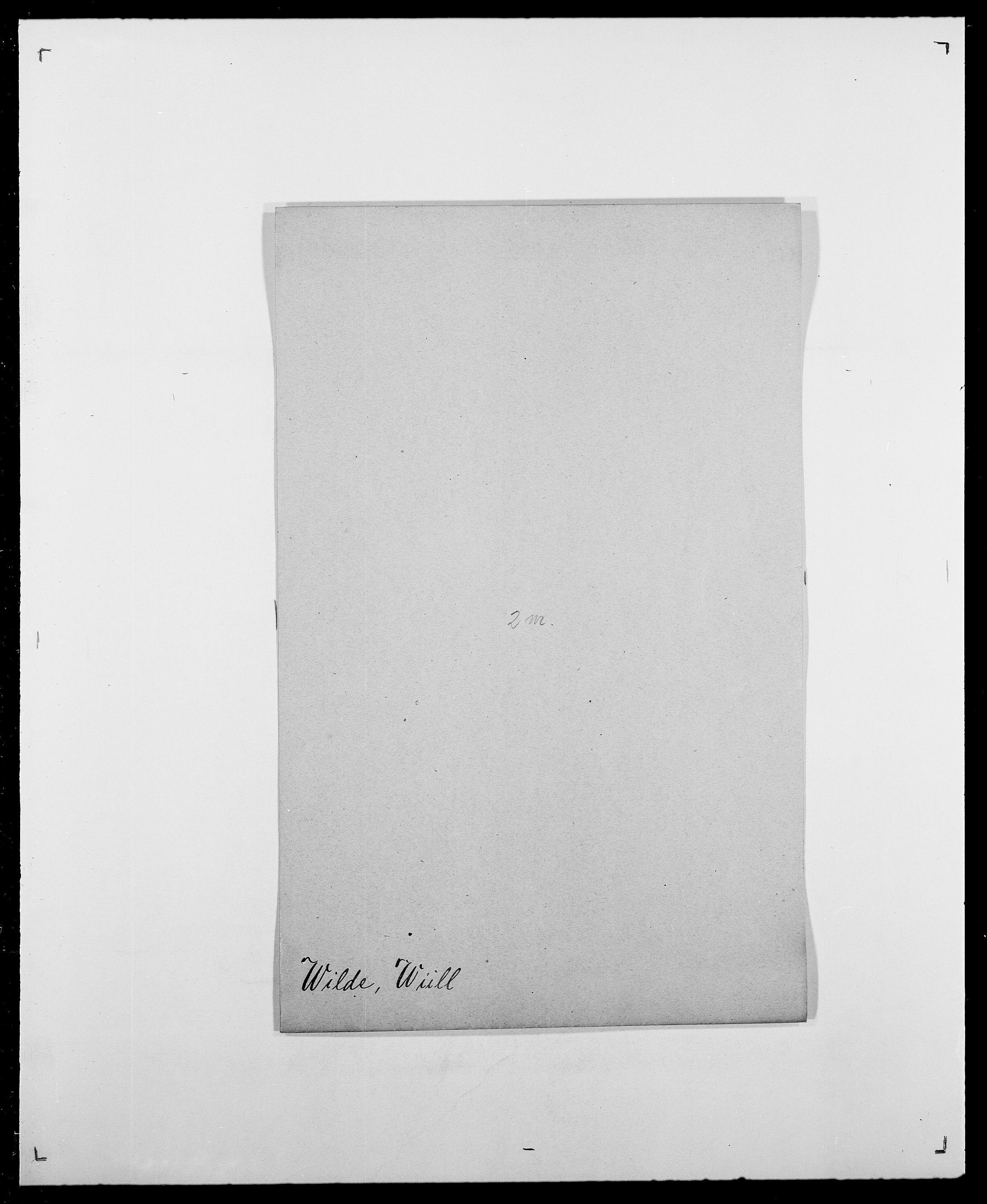 SAO, Delgobe, Charles Antoine - samling, D/Da/L0042: Vilain - Wulf, Wulff, se også Wolf, s. 13