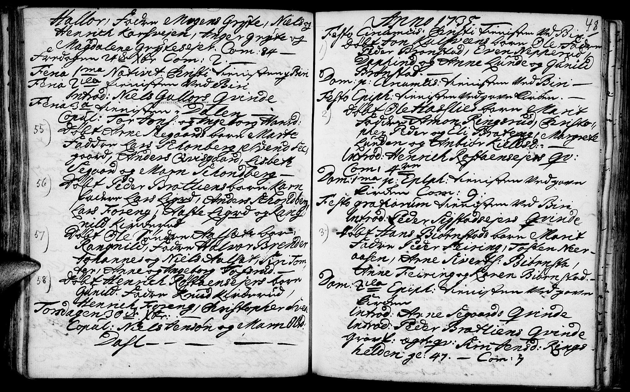 SAH, Biri prestekontor, Ministerialbok nr. 1, 1730-1754, s. 48