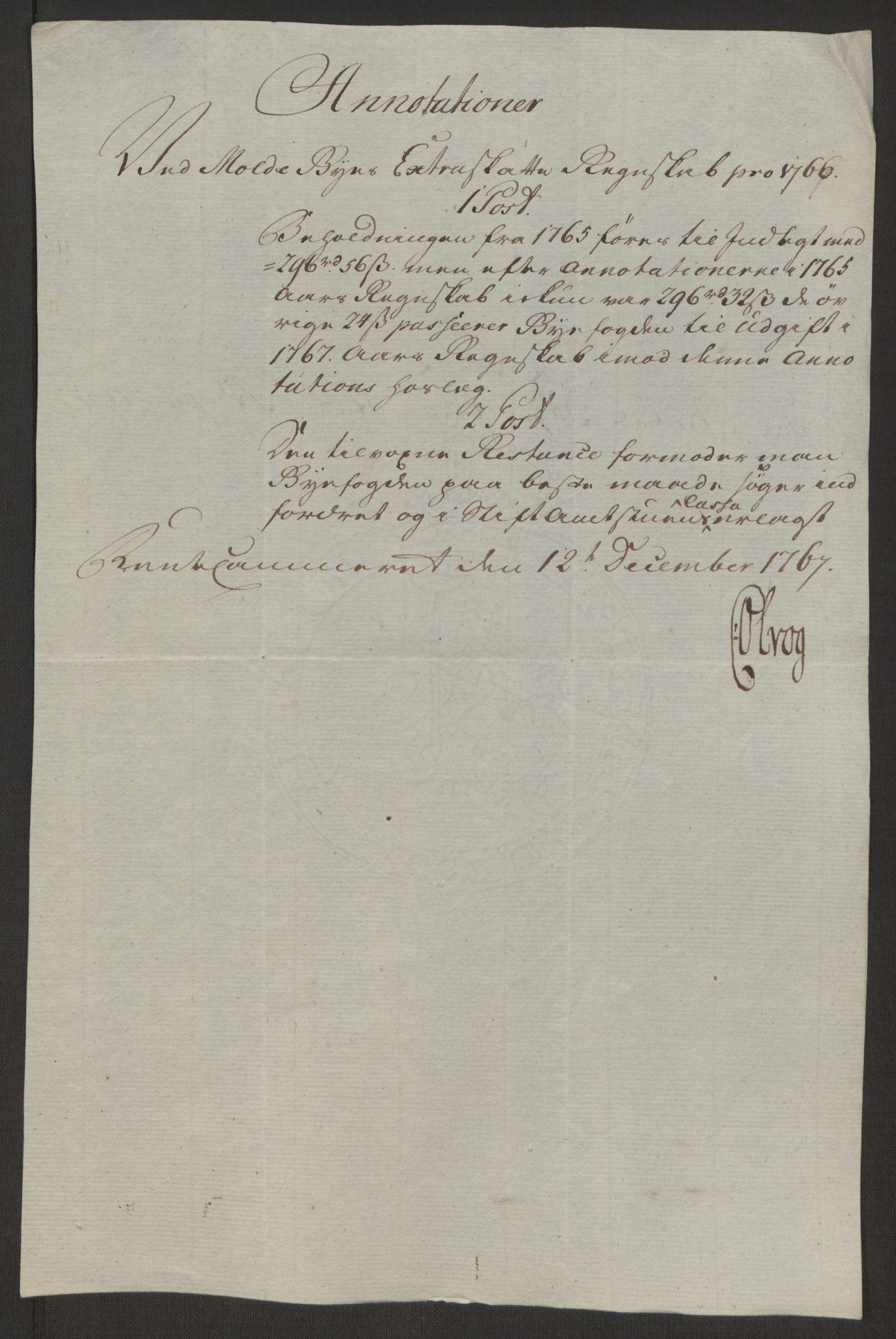 RA, Rentekammeret inntil 1814, Reviderte regnskaper, Byregnskaper, R/Rq/L0487: [Q1] Kontribusjonsregnskap, 1762-1772, s. 151