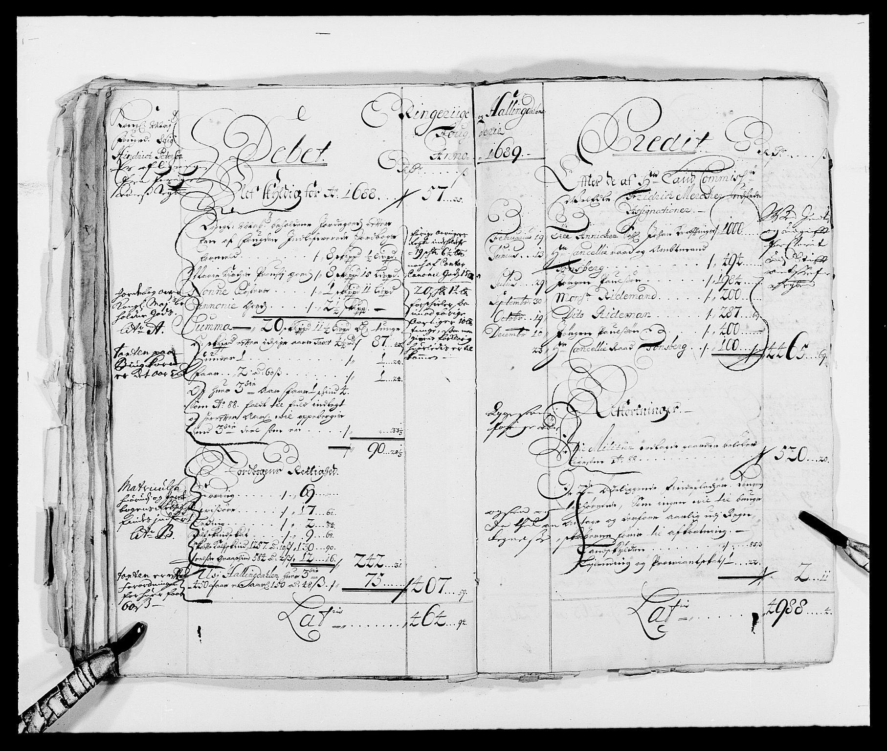 RA, Rentekammeret inntil 1814, Reviderte regnskaper, Fogderegnskap, R21/L1445: Fogderegnskap Ringerike og Hallingdal, 1681-1689, s. 31