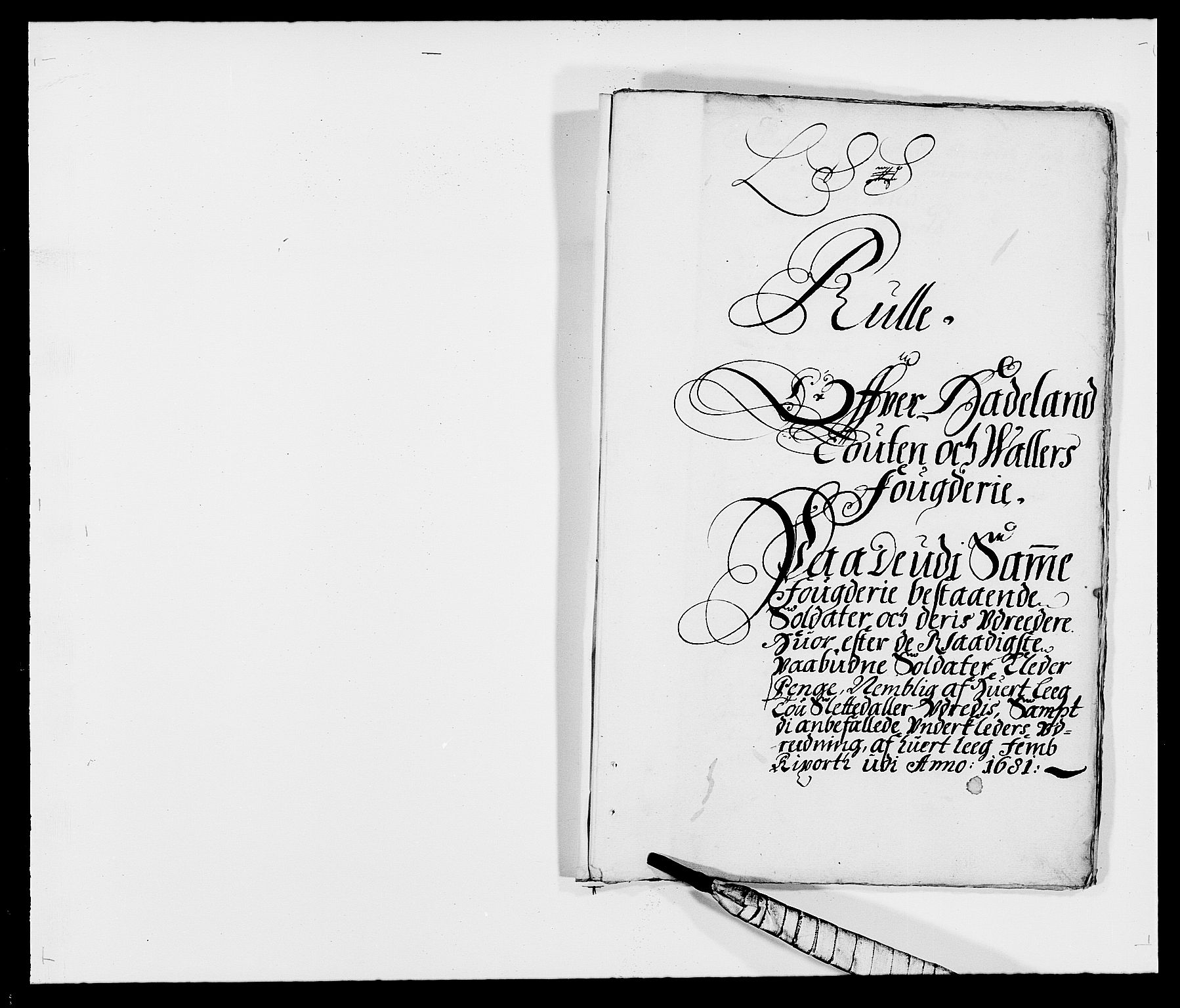 RA, Rentekammeret inntil 1814, Reviderte regnskaper, Fogderegnskap, R18/L1279: Fogderegnskap Hadeland, Toten og Valdres, 1681, s. 94