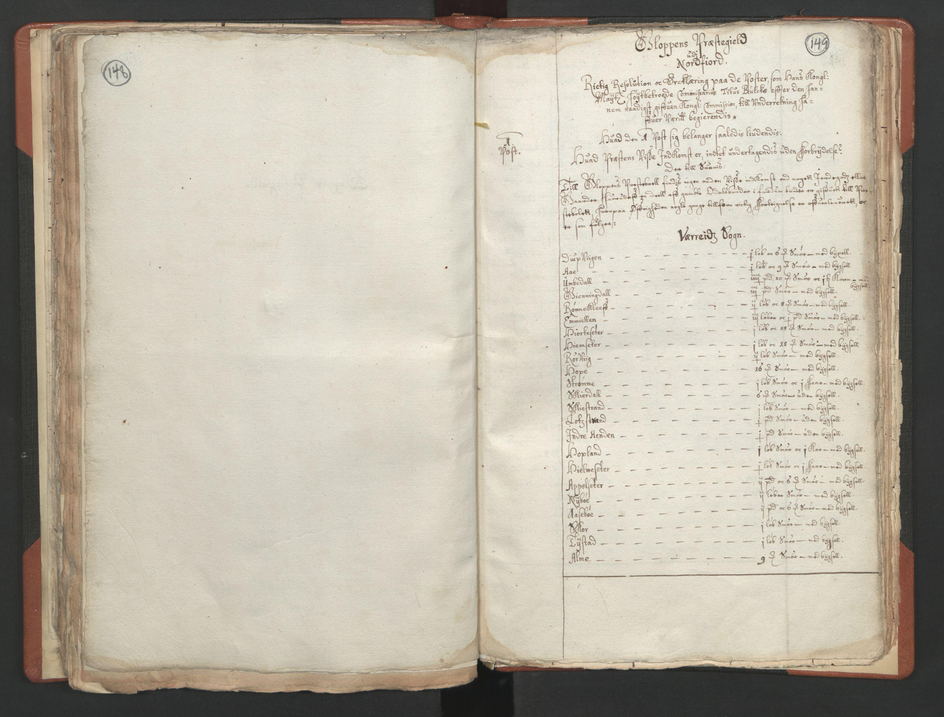 RA, Sogneprestenes manntall 1664-1666, nr. 25: Nordfjord prosti, 1664-1666, s. 148-149