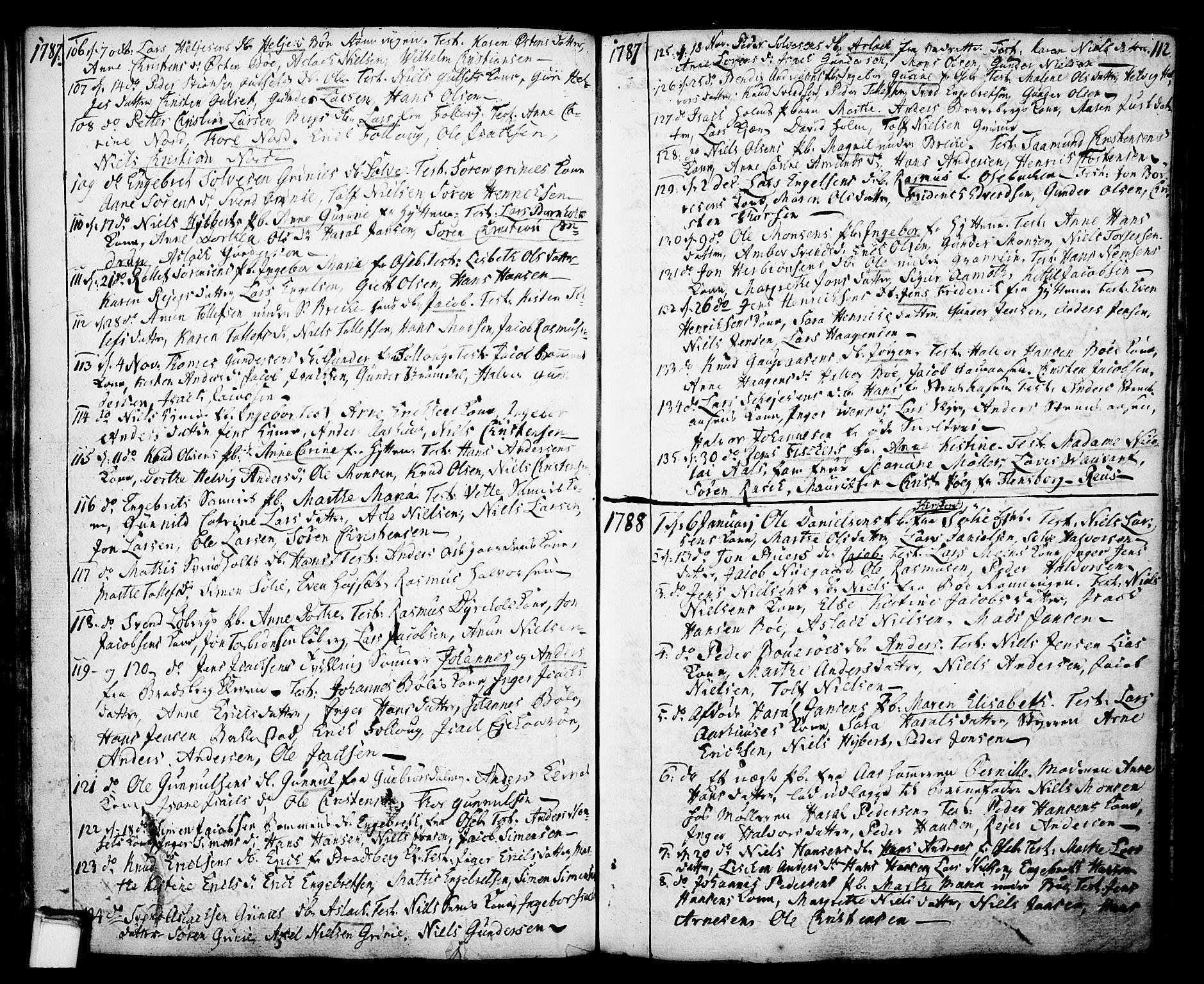 SAKO, Gjerpen kirkebøker, F/Fa/L0002: Ministerialbok nr. 2, 1747-1795, s. 112