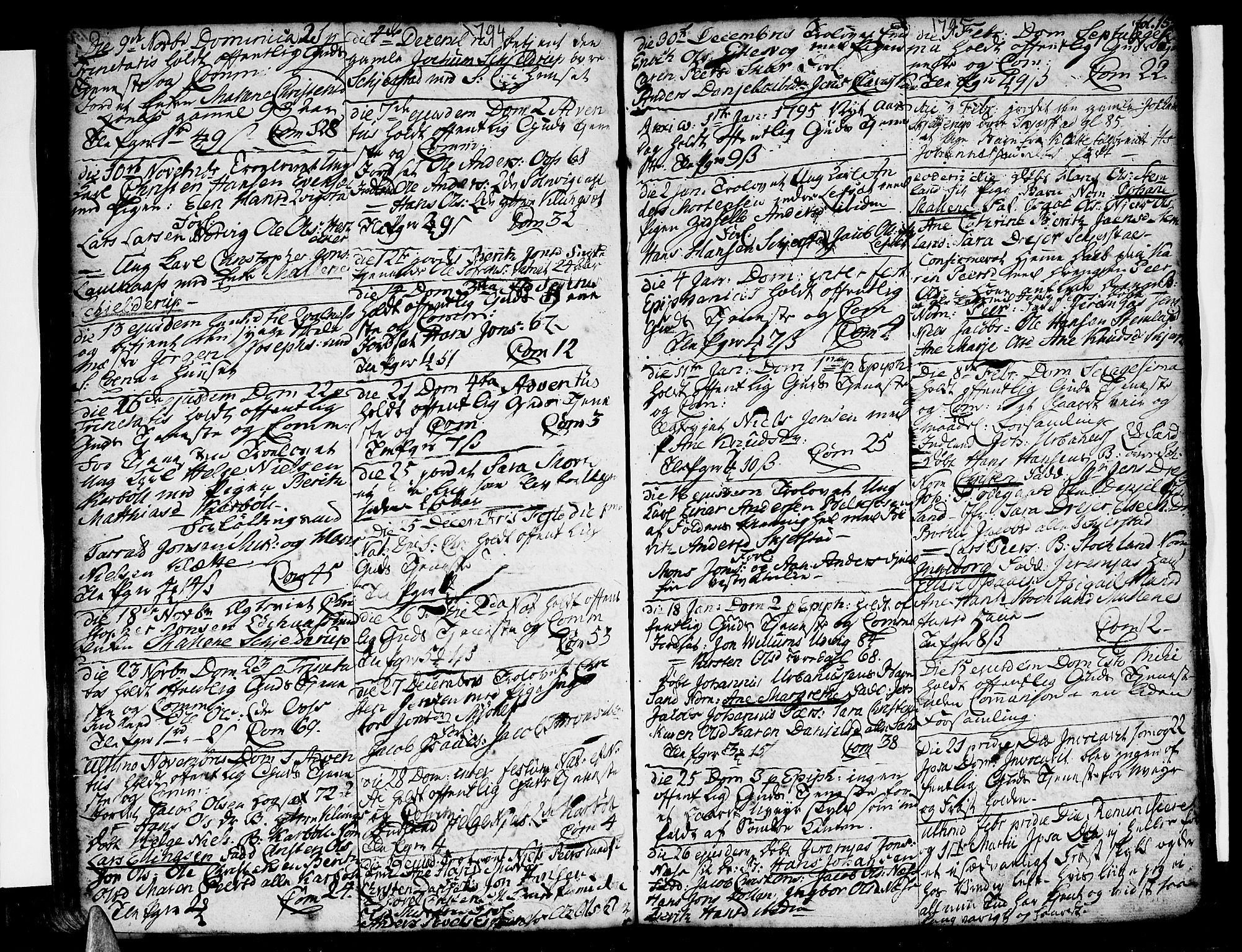 SAT, Ministerialprotokoller, klokkerbøker og fødselsregistre - Nordland, 852/L0735: Ministerialbok nr. 852A05, 1762-1820, s. 157