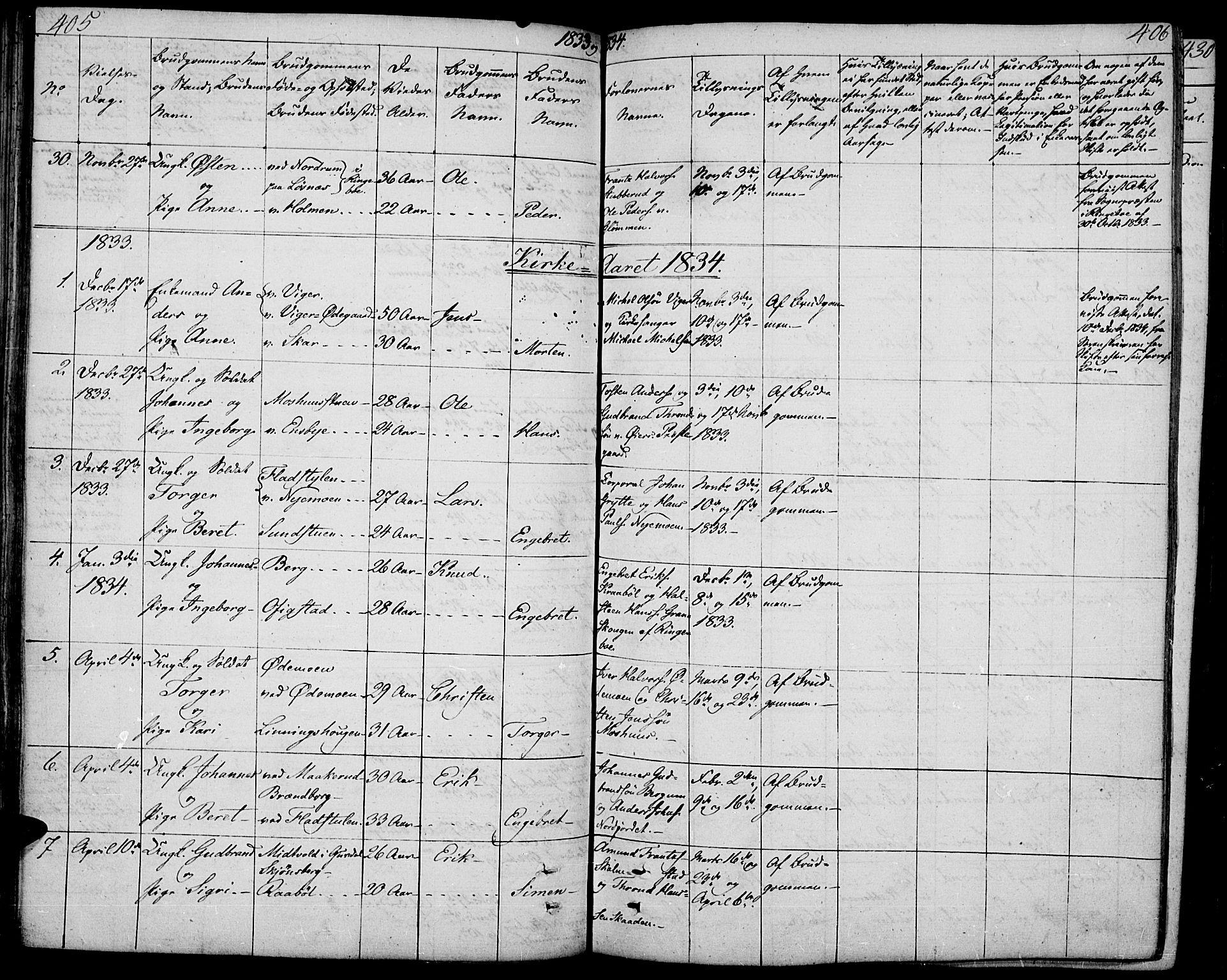 SAH, Øyer prestekontor, Ministerialbok nr. 4, 1824-1841, s. 405-406