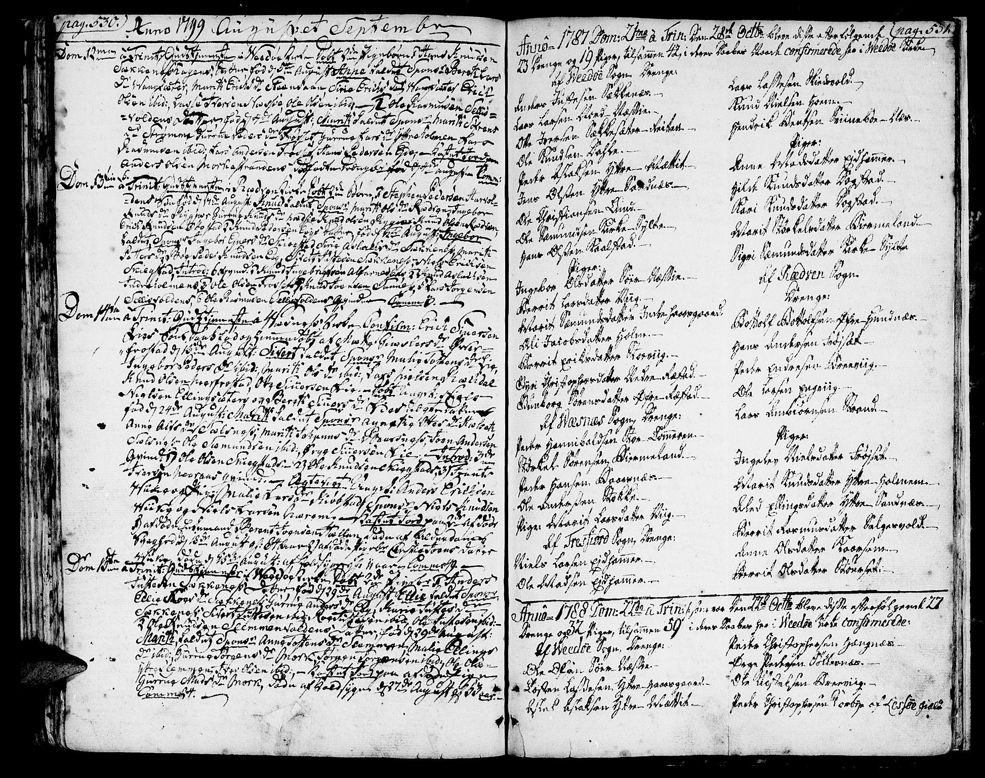 SAT, Ministerialprotokoller, klokkerbøker og fødselsregistre - Møre og Romsdal, 547/L0600: Ministerialbok nr. 547A02, 1765-1799, s. 530-531