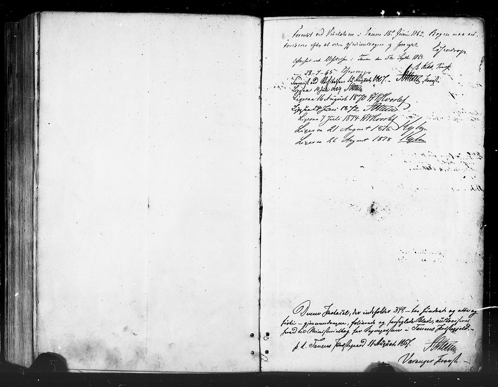 SATØ, Tana sokneprestkontor, H/Ha/L0002kirke: Ministerialbok nr. 2 /2, 1862-1877