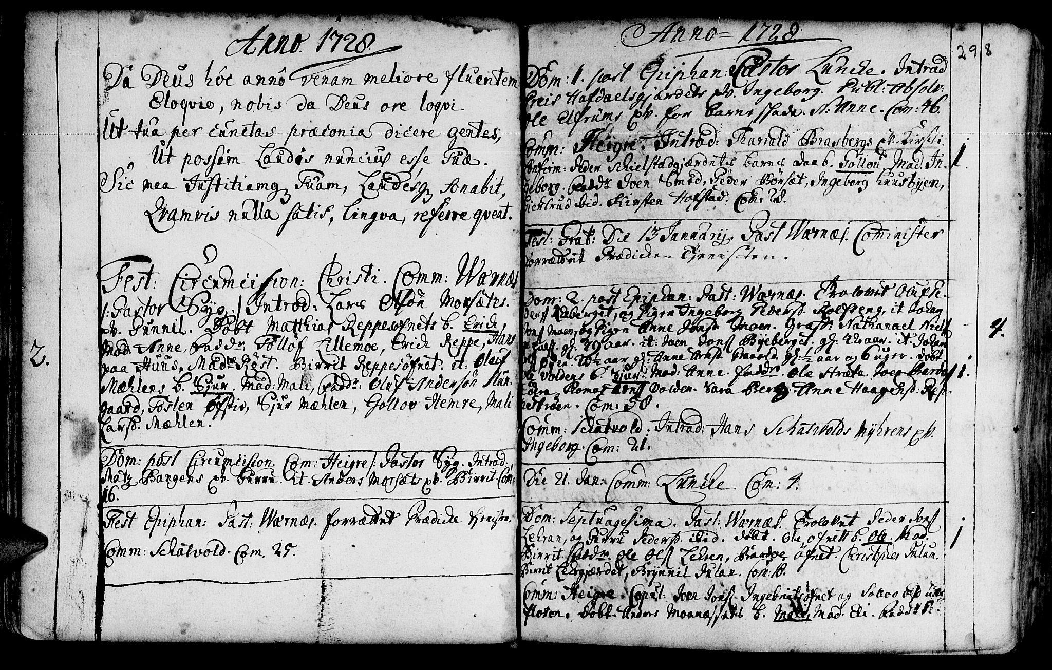 SAT, Ministerialprotokoller, klokkerbøker og fødselsregistre - Nord-Trøndelag, 709/L0054: Ministerialbok nr. 709A02, 1714-1738, s. 297-298