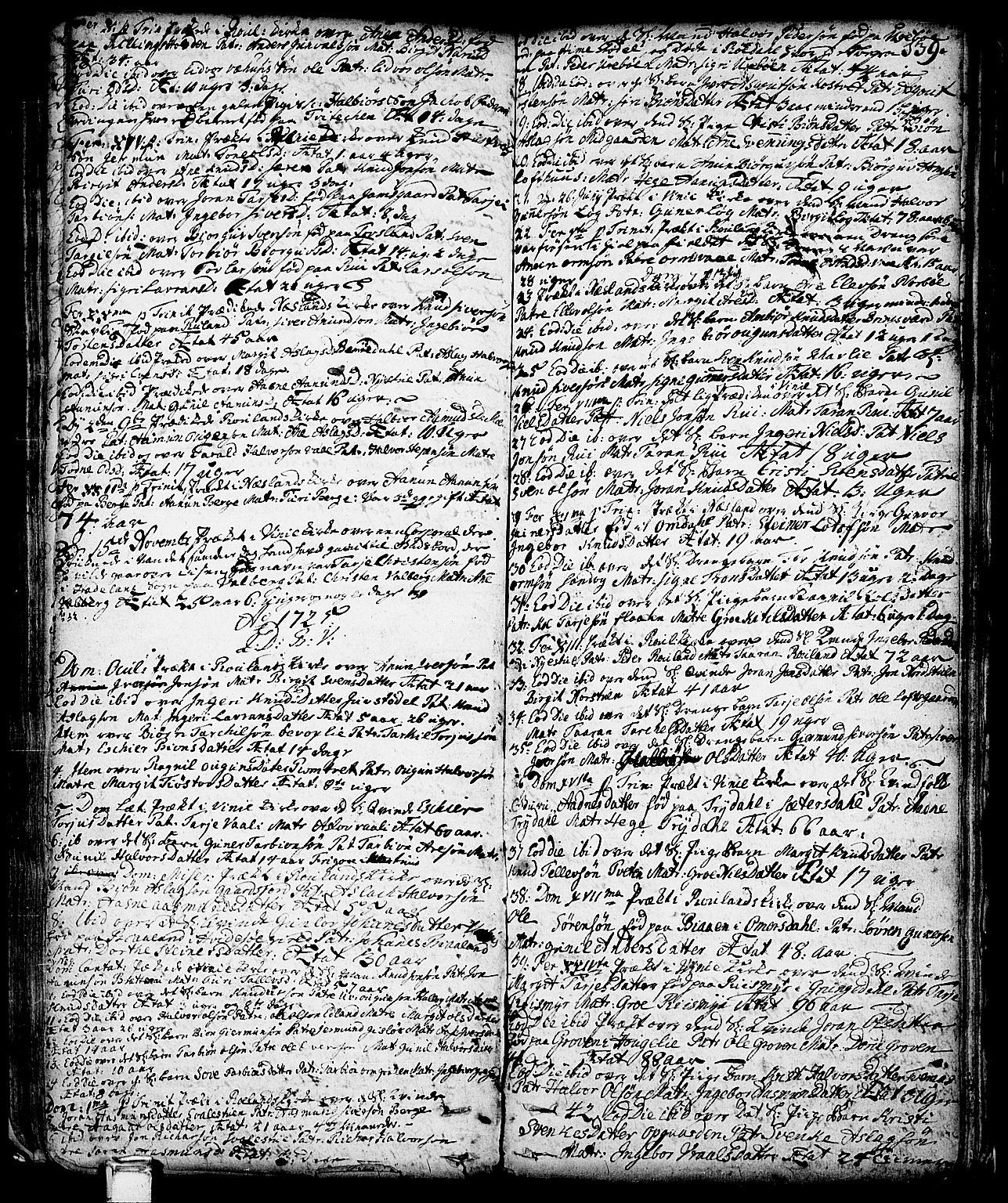 SAKO, Vinje kirkebøker, F/Fa/L0001: Ministerialbok nr. I 1, 1717-1766, s. 139