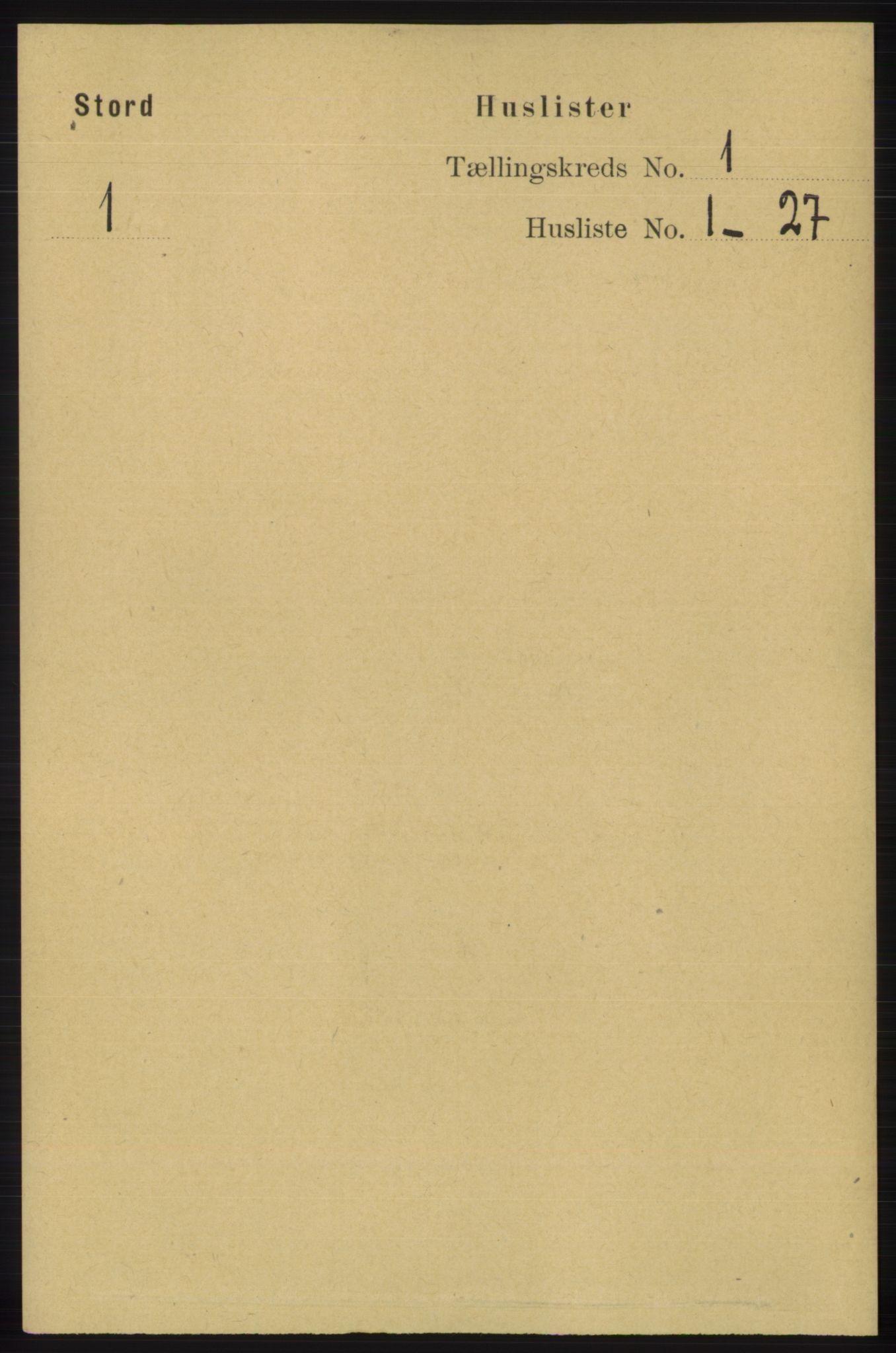 RA, Folketelling 1891 for 1221 Stord herred, 1891, s. 18