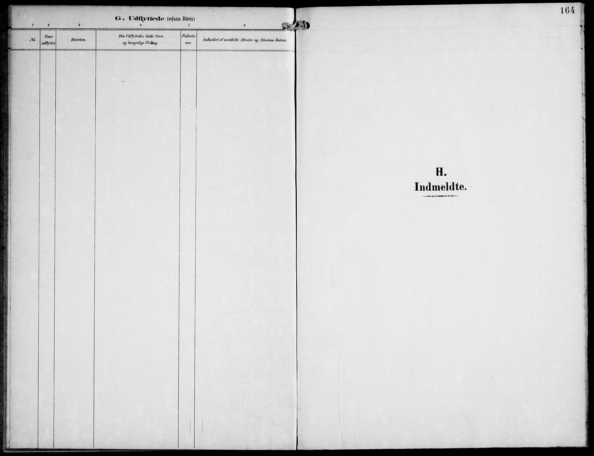 SAT, Ministerialprotokoller, klokkerbøker og fødselsregistre - Nord-Trøndelag, 745/L0430: Ministerialbok nr. 745A02, 1895-1913, s. 164