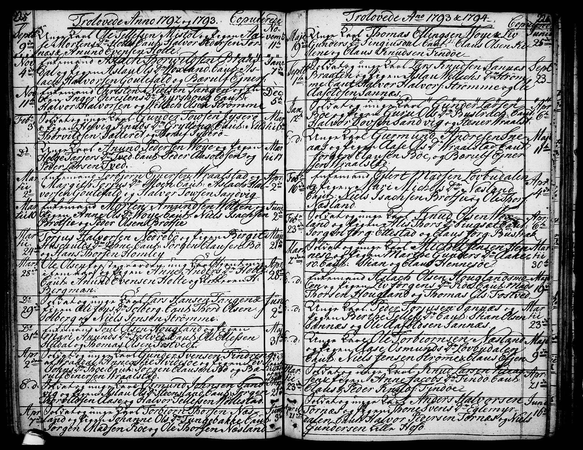 SAKO, Drangedal kirkebøker, F/Fa/L0003: Ministerialbok nr. 3, 1768-1814, s. 225-226