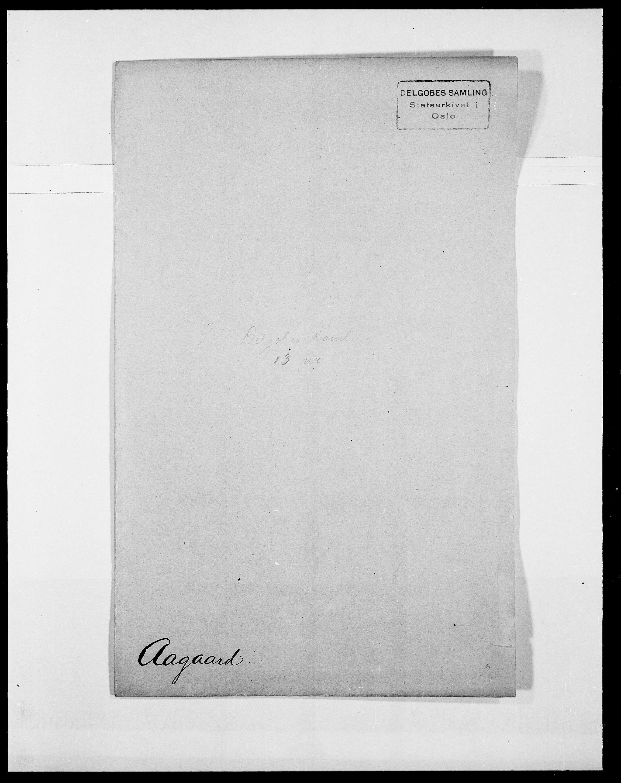 SAO, Delgobe, Charles Antoine - samling, D/Da/L0001: Aabye - Angerman, s. 4