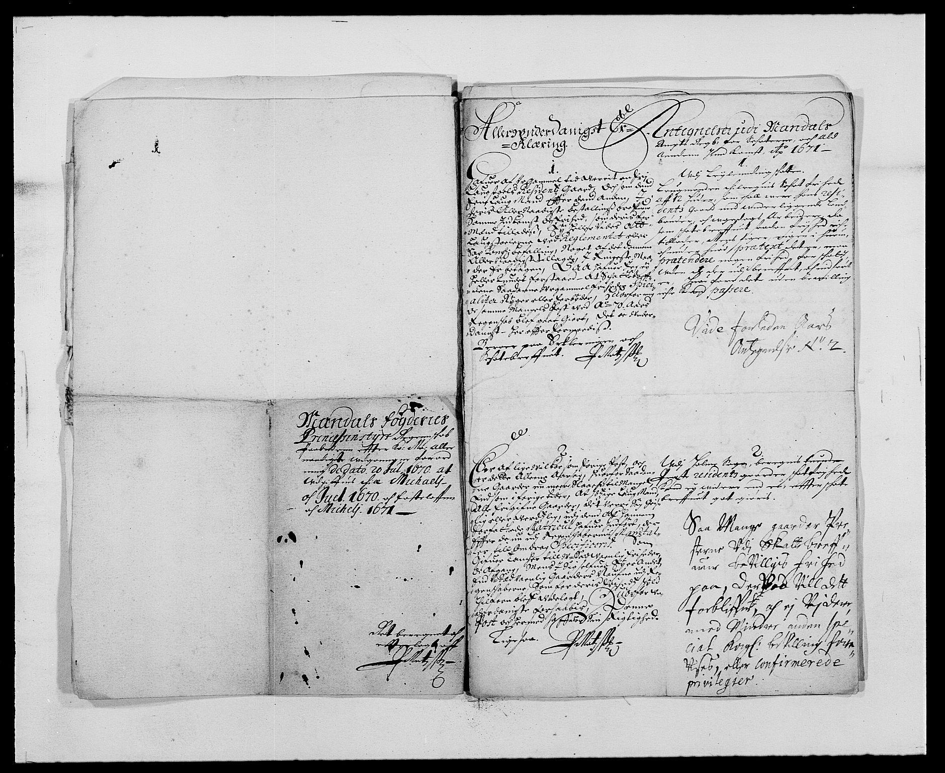 RA, Rentekammeret inntil 1814, Reviderte regnskaper, Fogderegnskap, R42/L2539: Mandal fogderi, 1671-1675, s. 58
