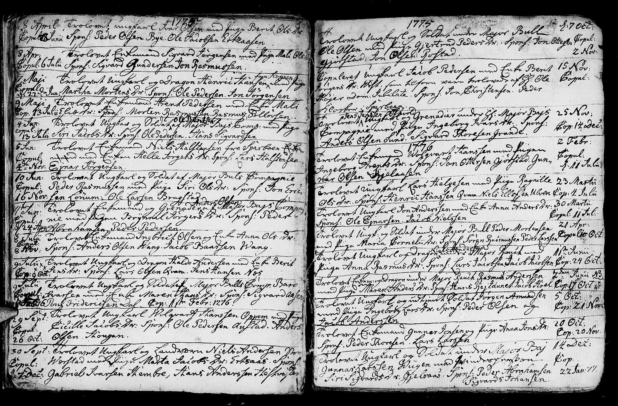 SAT, Ministerialprotokoller, klokkerbøker og fødselsregistre - Nord-Trøndelag, 730/L0273: Ministerialbok nr. 730A02, 1762-1802, s. 12