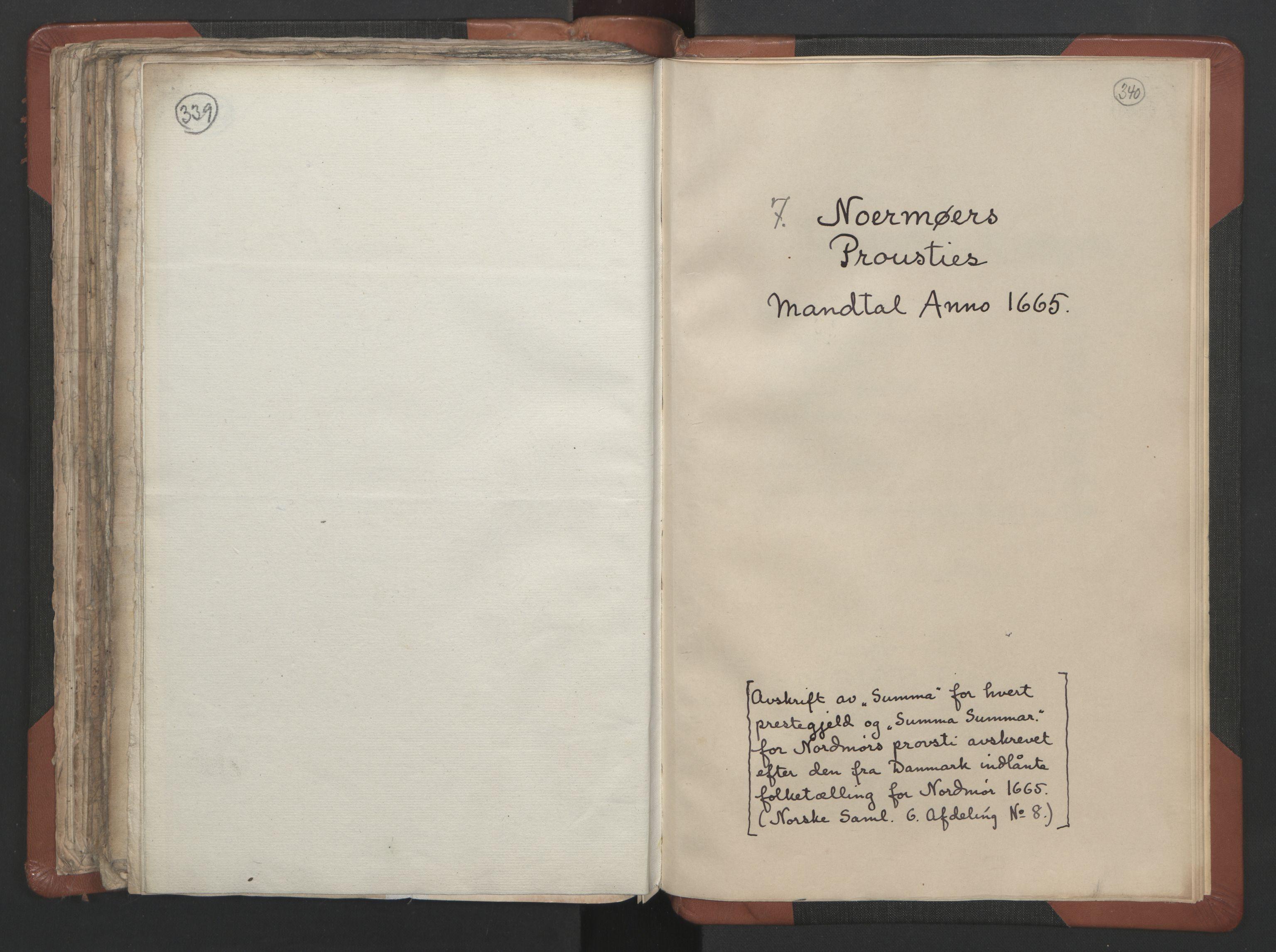 RA, Sogneprestenes manntall 1664-1666, nr. 29: Nordmøre prosti, 1664-1666, s. 339-340
