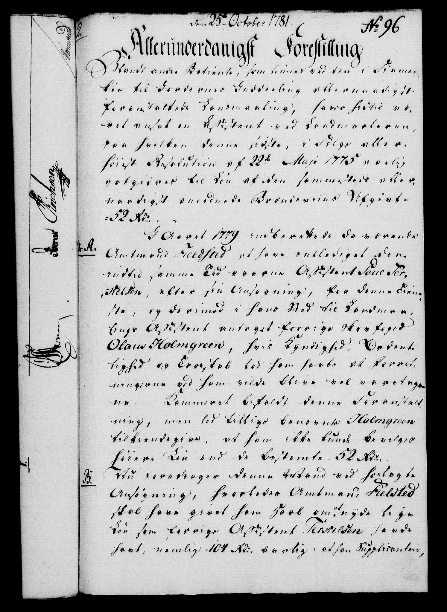 RA, Rentekammeret, Kammerkanselliet, G/Gf/Gfa/L0063: Norsk relasjons- og resolusjonsprotokoll (merket RK 52.63), 1781, s. 1041