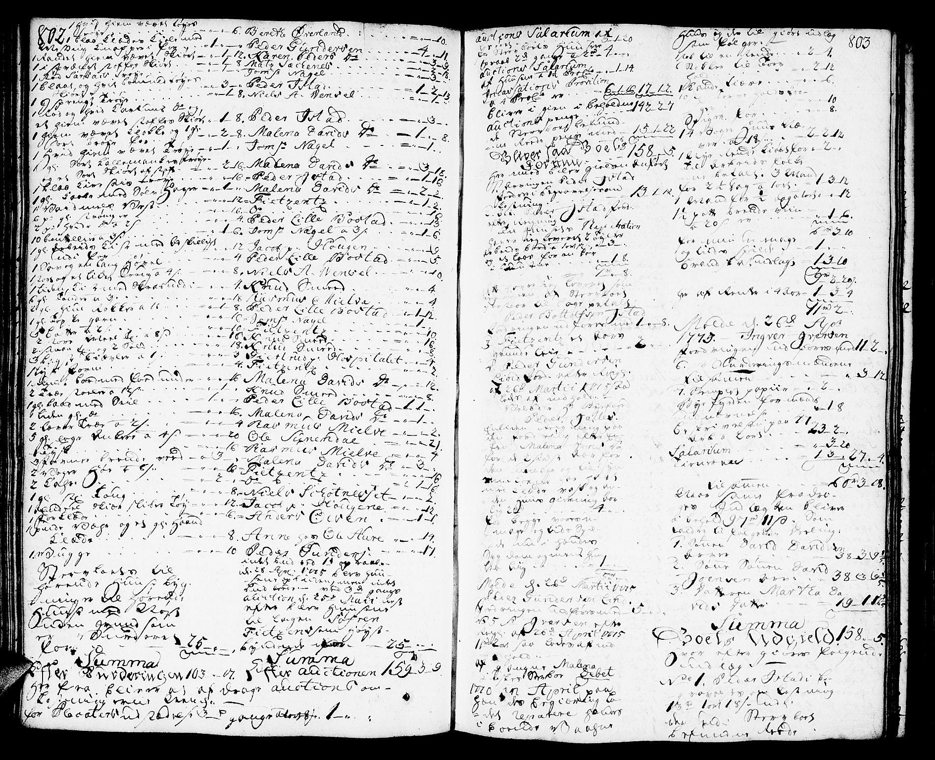 SAT, Molde byfogd, 3Aa/L0002: Skifteprotokoll, 1768-1787, s. 802-803