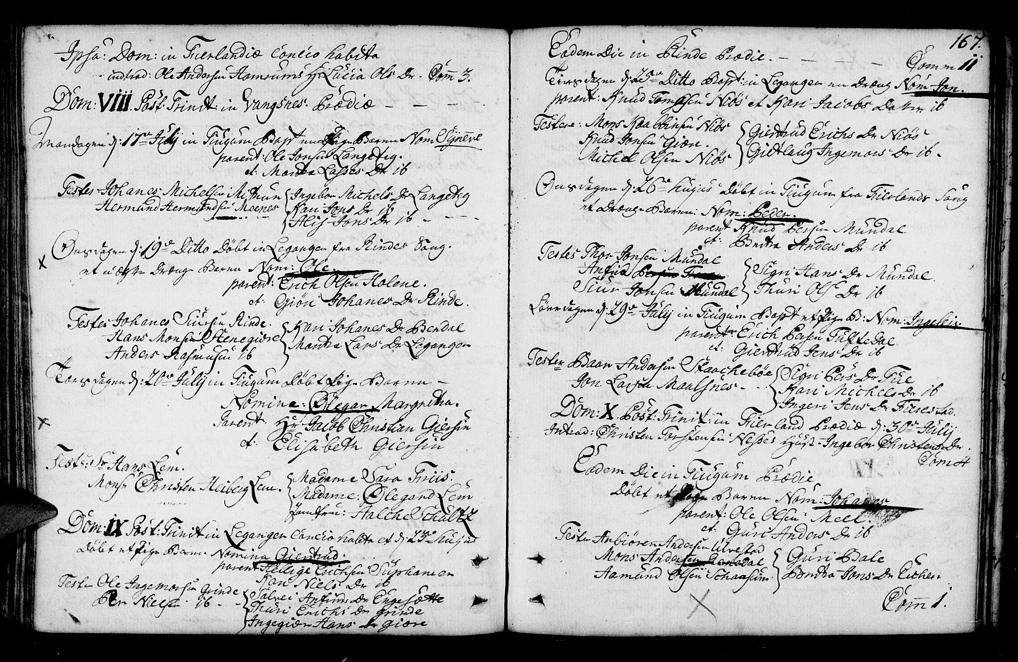 SAB, Leikanger sokneprestembete, Ministerialbok nr. A 3, 1756-1770, s. 167