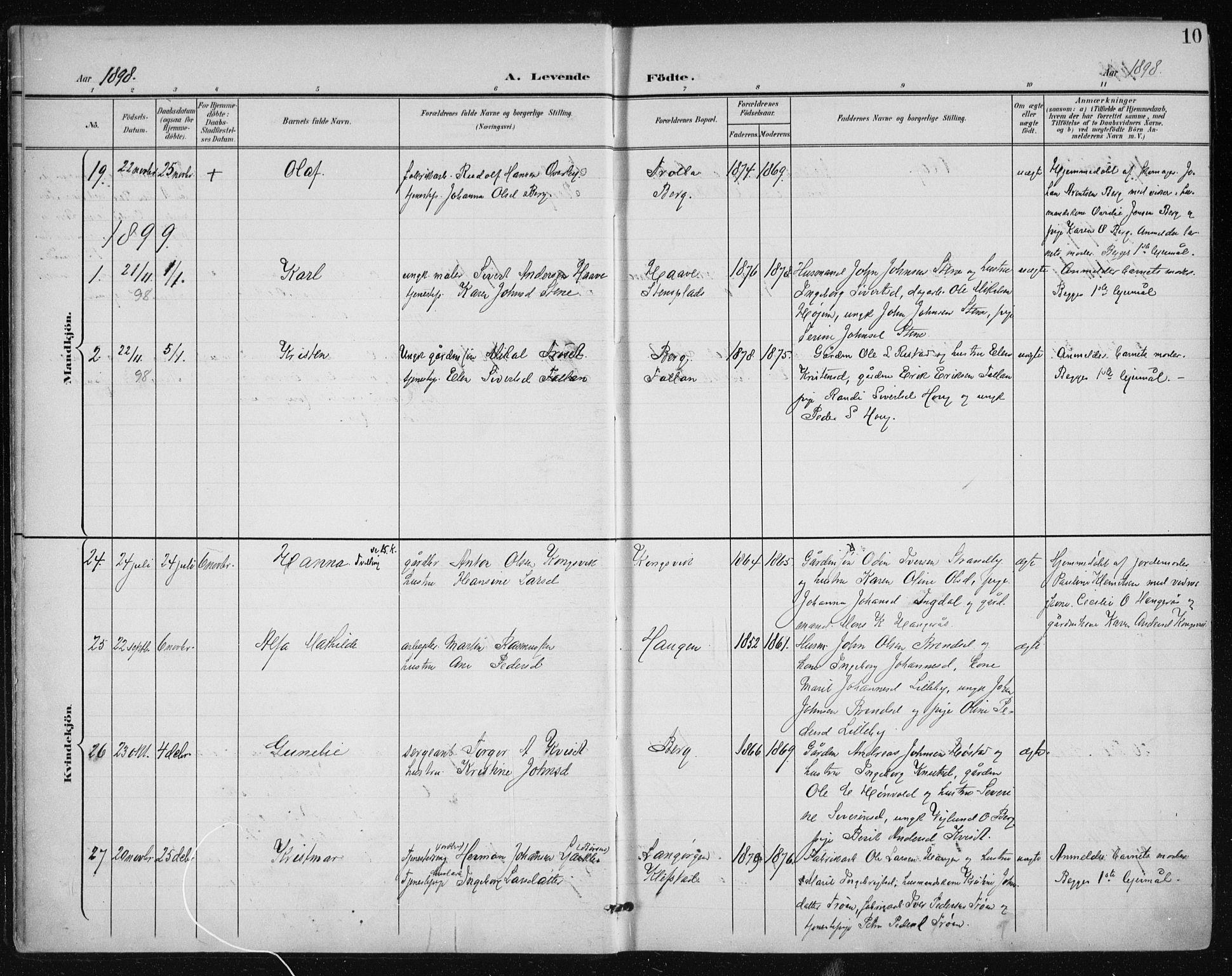 SAT, Ministerialprotokoller, klokkerbøker og fødselsregistre - Sør-Trøndelag, 612/L0380: Ministerialbok nr. 612A12, 1898-1907, s. 10