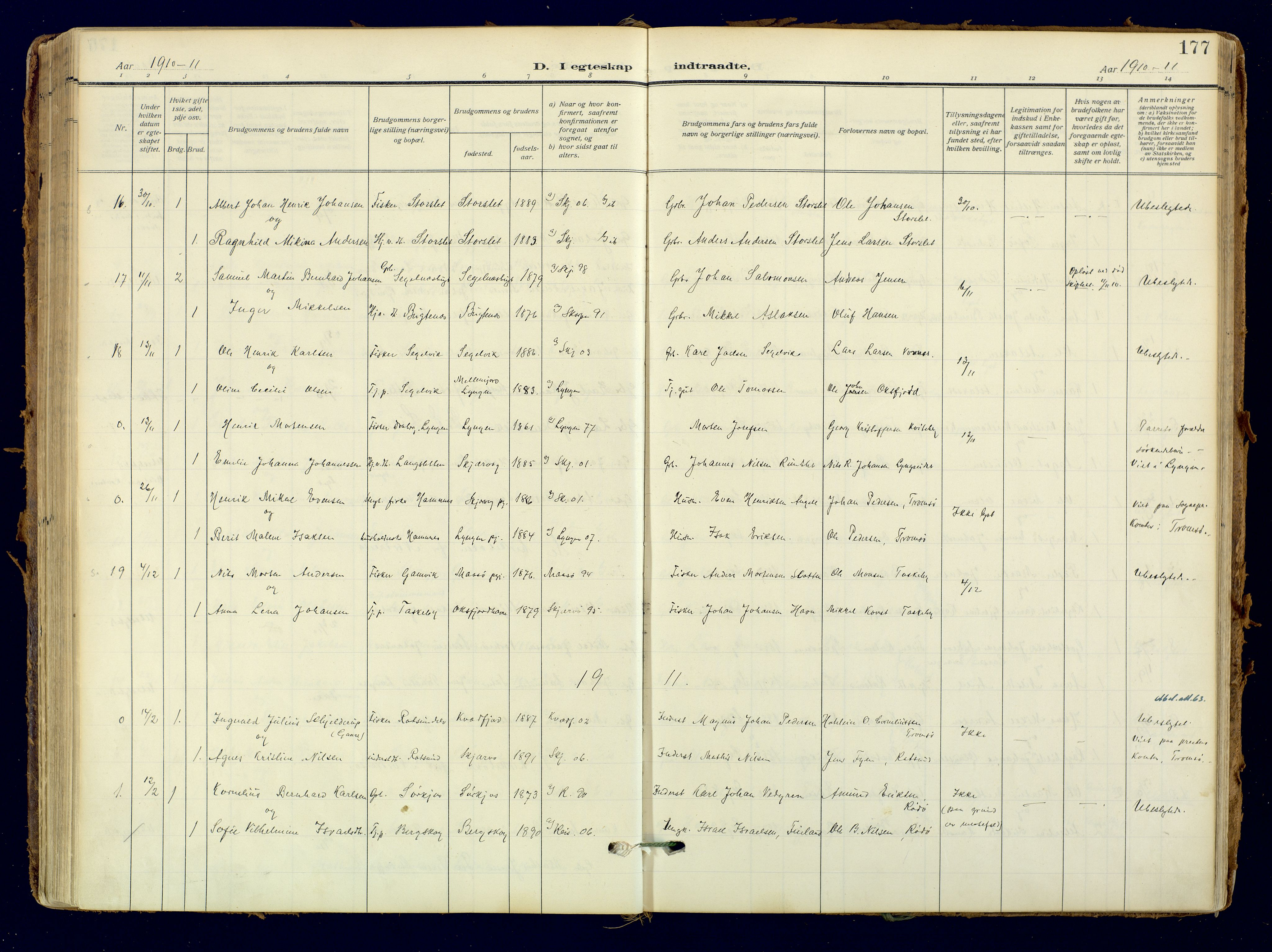 SATØ, Skjervøy sokneprestkontor, H/Ha/Haa: Ministerialbok nr. 18, 1910-1926, s. 177