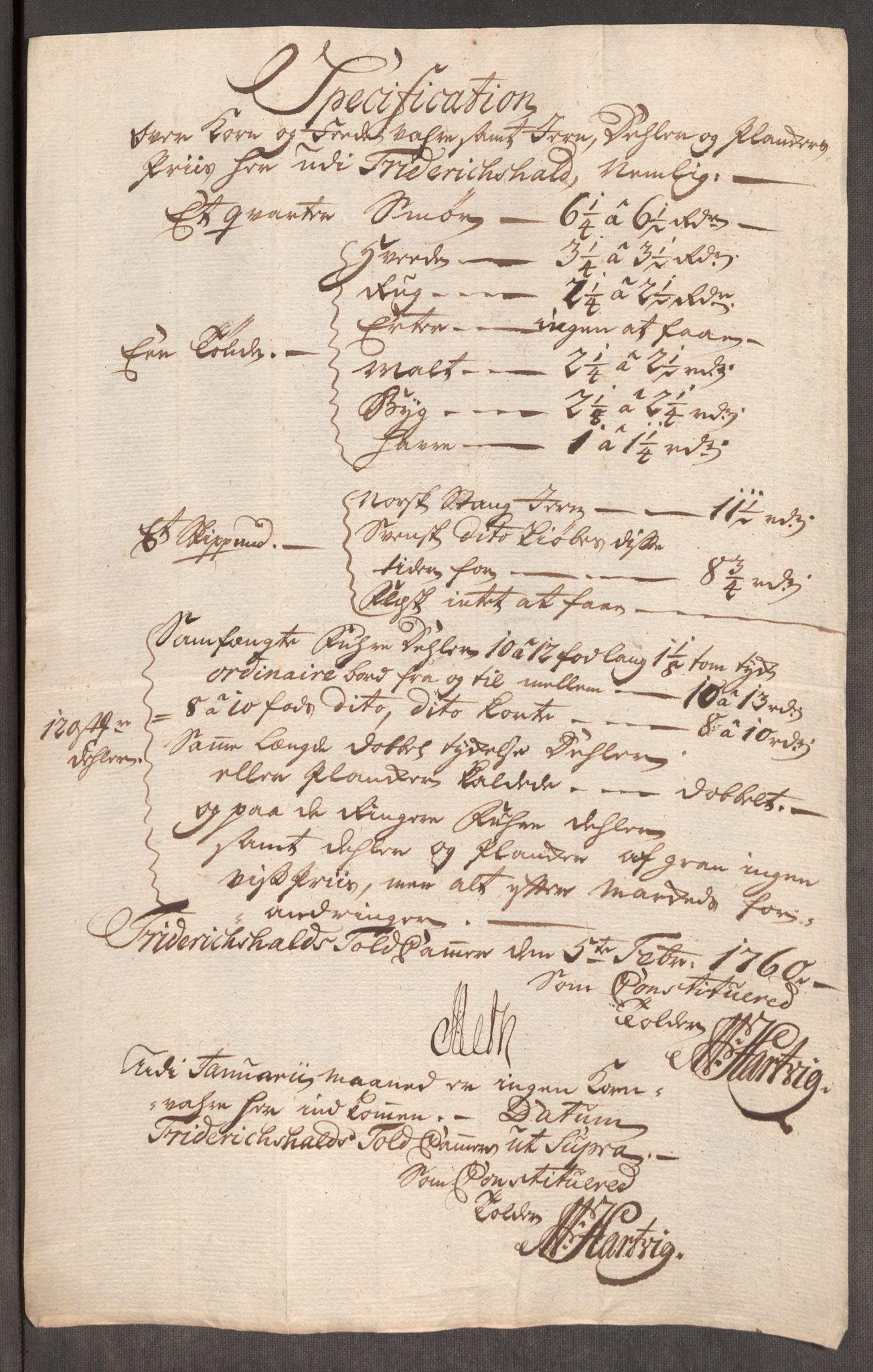 RA, Rentekammeret inntil 1814, Realistisk ordnet avdeling, Oe/L0006: [Ø1]: Priskuranter, 1758-1760, s. 638