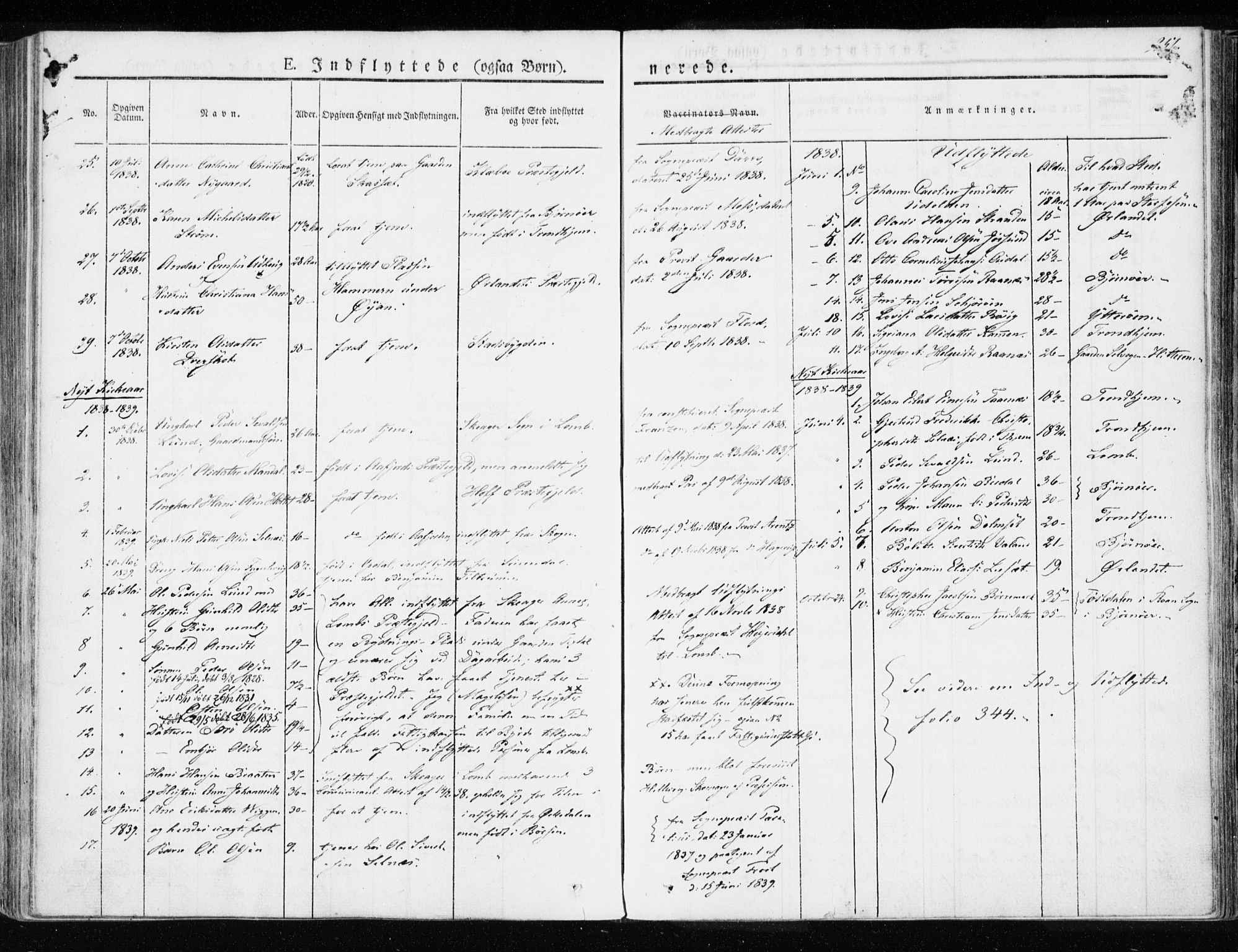SAT, Ministerialprotokoller, klokkerbøker og fødselsregistre - Sør-Trøndelag, 655/L0676: Ministerialbok nr. 655A05, 1830-1847, s. 251
