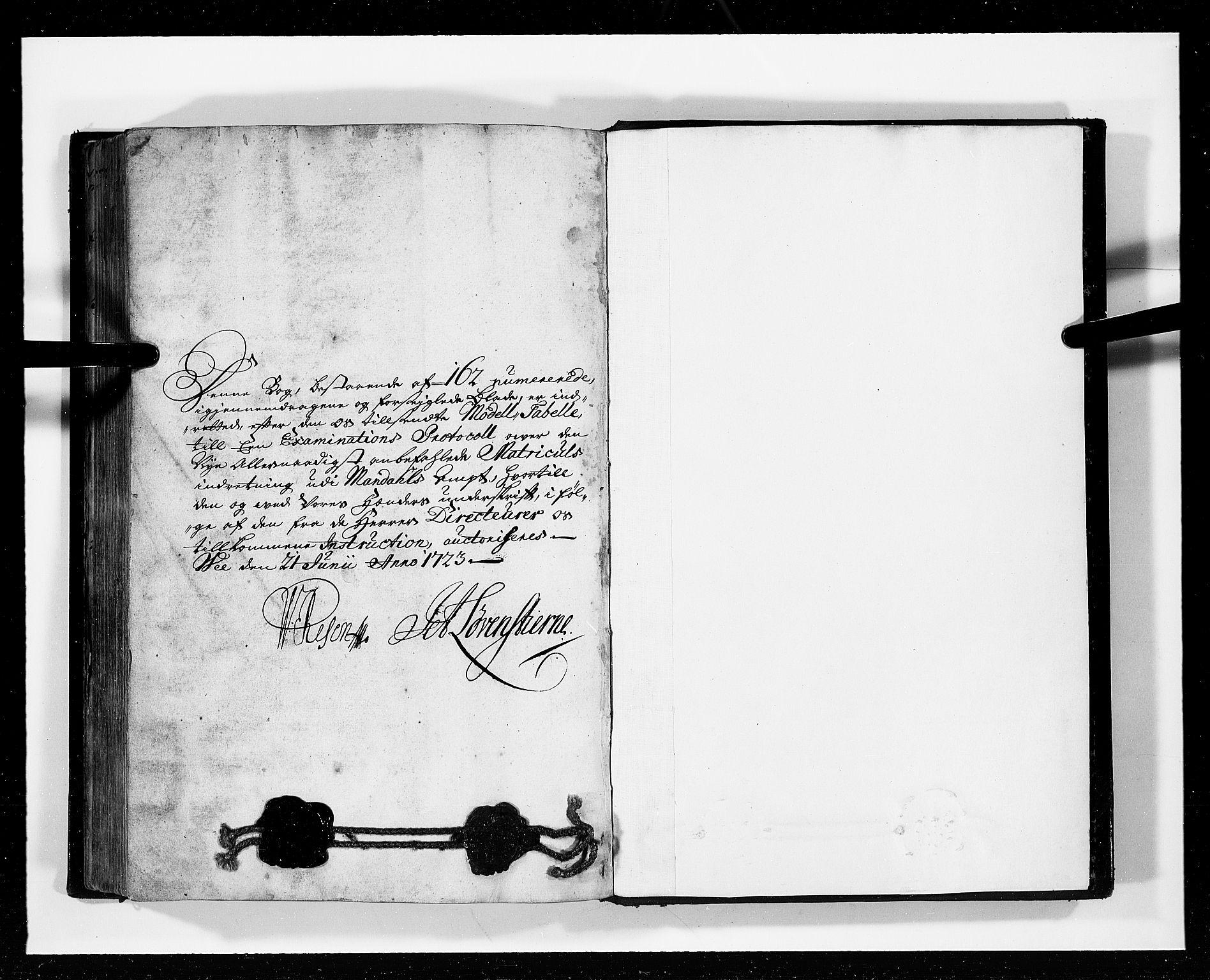 RA, Rentekammeret inntil 1814, Realistisk ordnet avdeling, N/Nb/Nbf/L0127: Mandal eksaminasjonsprotokoll, 1723, s. 148b-149a