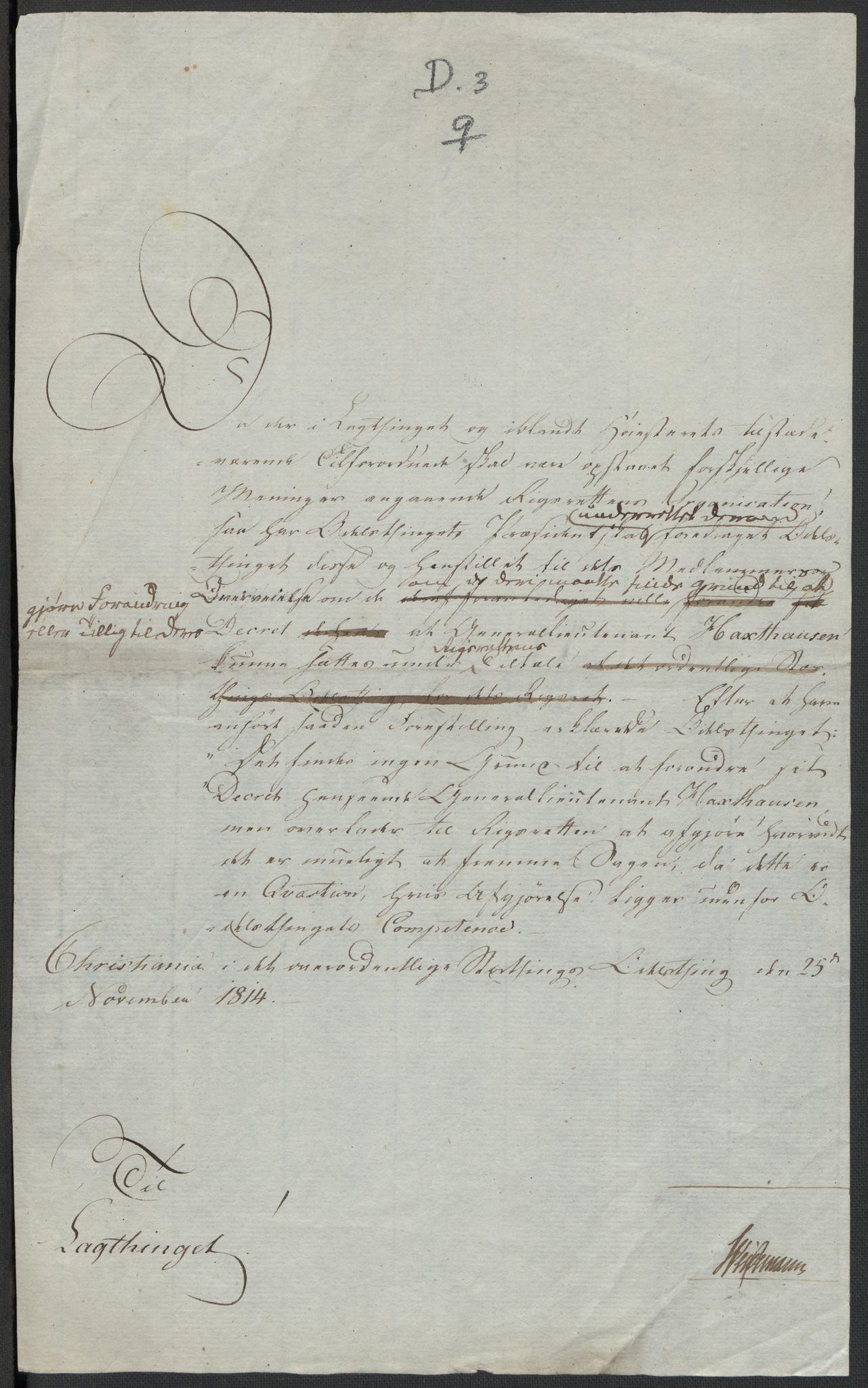 RA, Christie, Wilhelm Frimann Koren, F/L0004, 1814, s. 239