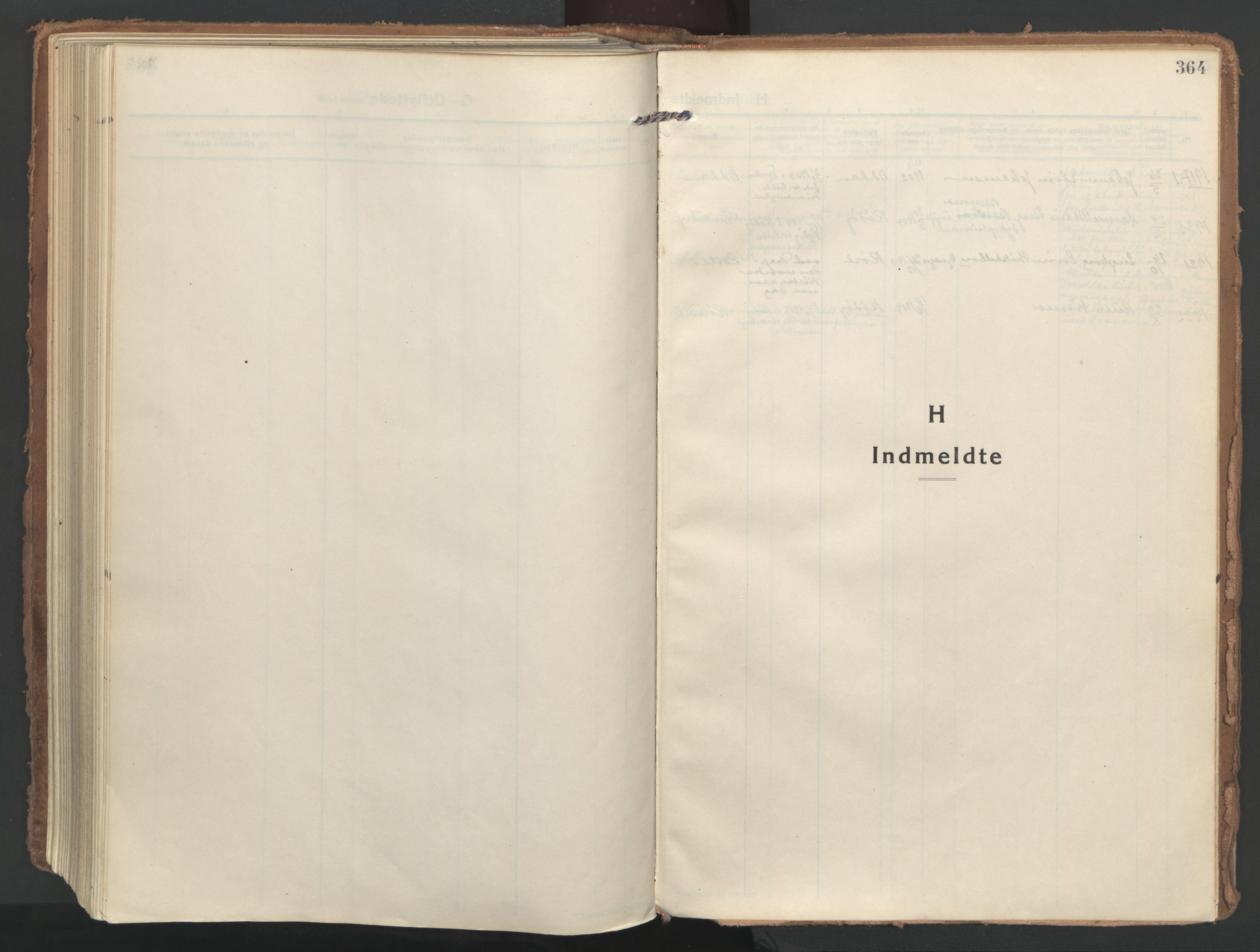 SAT, Ministerialprotokoller, klokkerbøker og fødselsregistre - Nordland, 802/L0060: Ministerialbok nr. 802A07, 1916-1933, s. 364