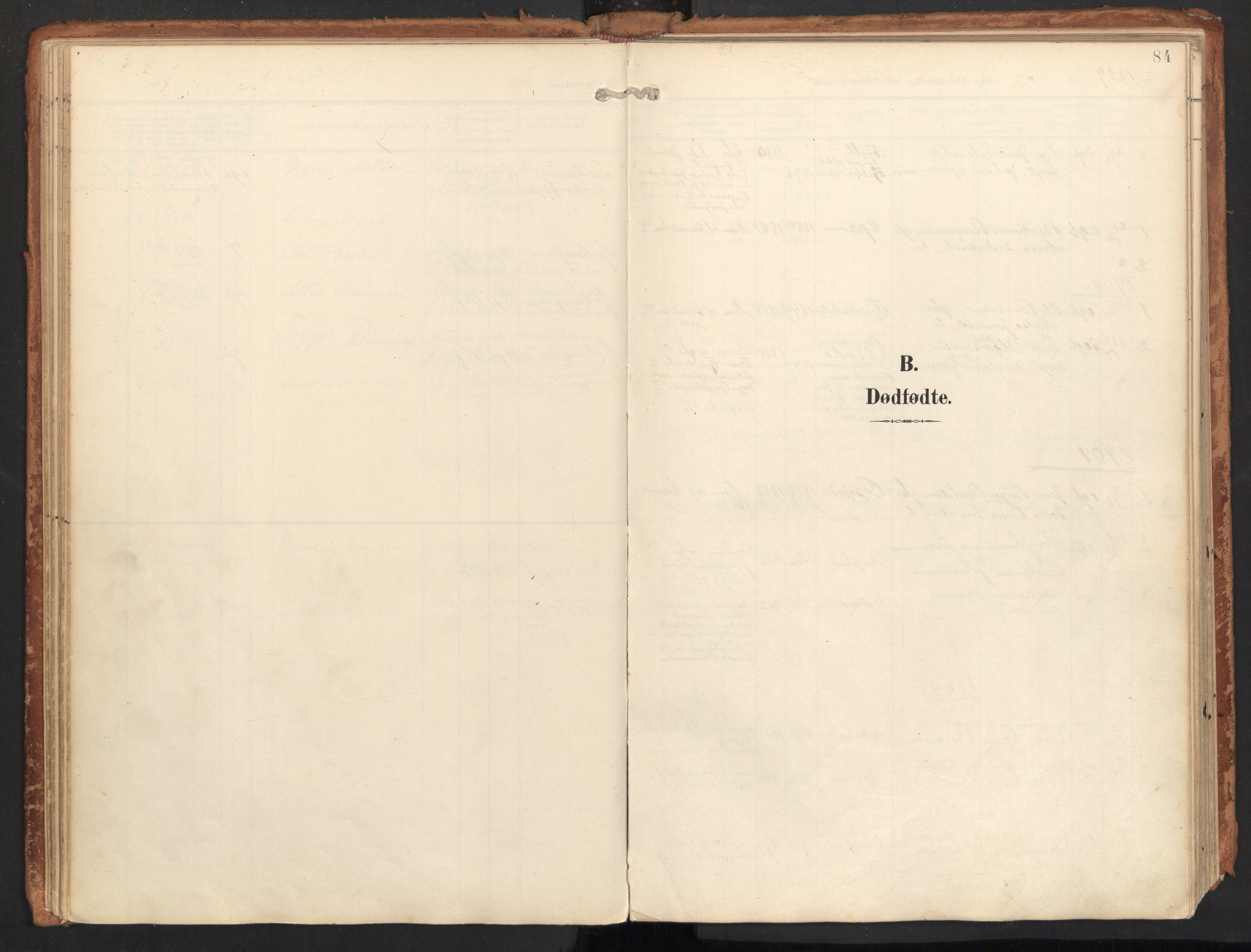 SAT, Ministerialprotokoller, klokkerbøker og fødselsregistre - Nordland, 814/L0227: Ministerialbok nr. 814A08, 1899-1920, s. 84