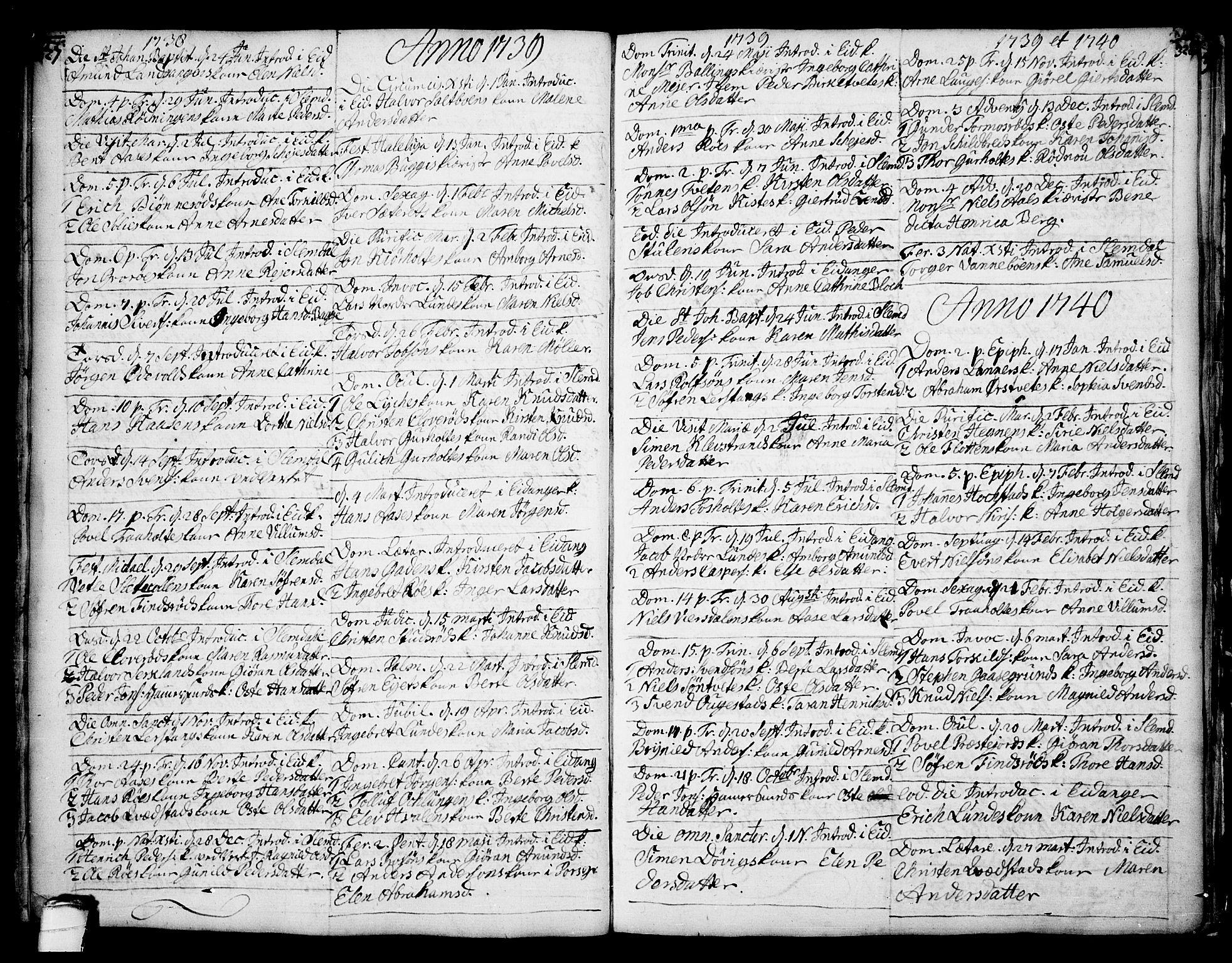 SAKO, Eidanger kirkebøker, F/Fa/L0004: Ministerialbok nr. 4, 1733-1759, s. 327-328
