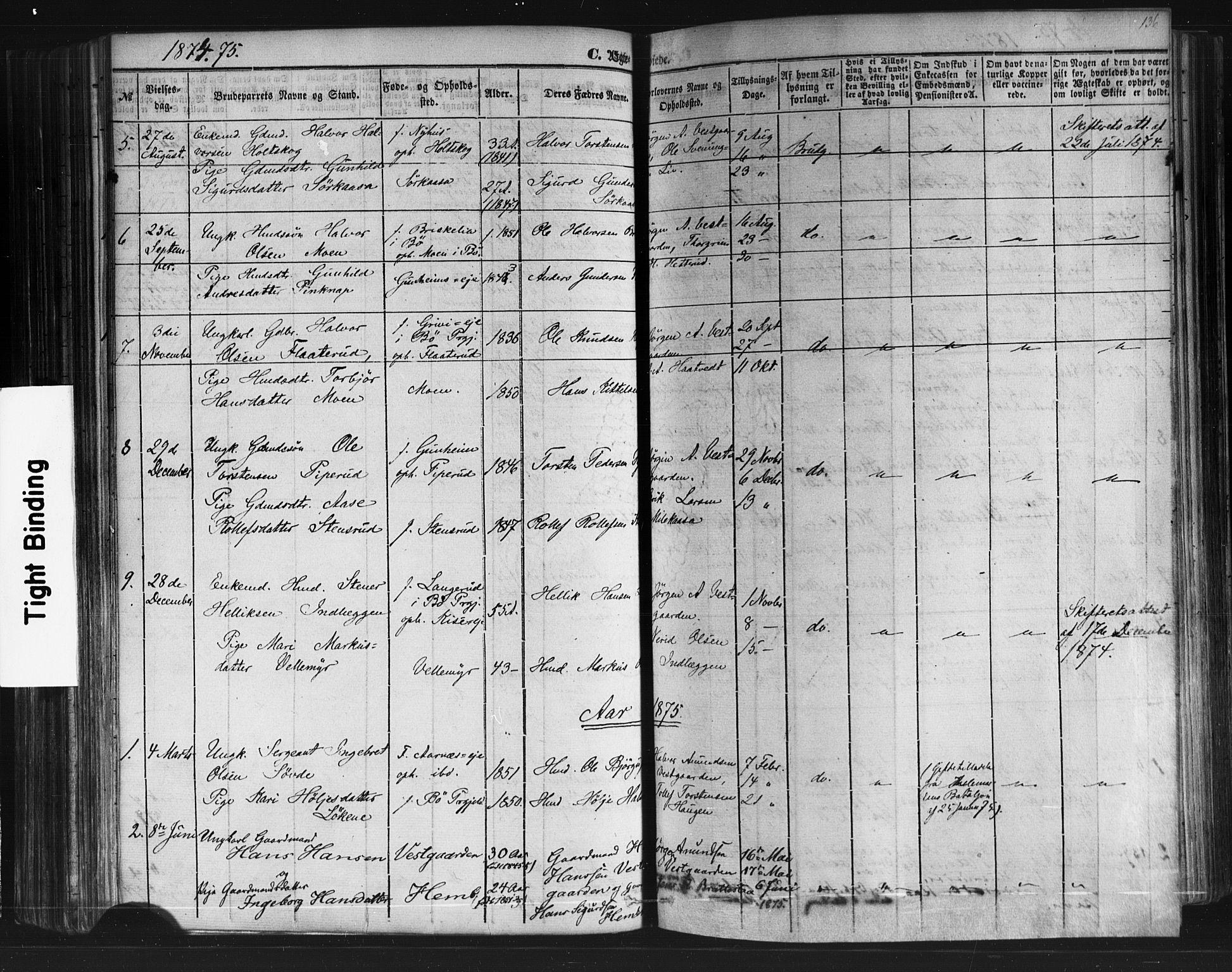 SAKO, Sauherad kirkebøker, F/Fb/L0001: Ministerialbok nr. II 1, 1851-1877, s. 136