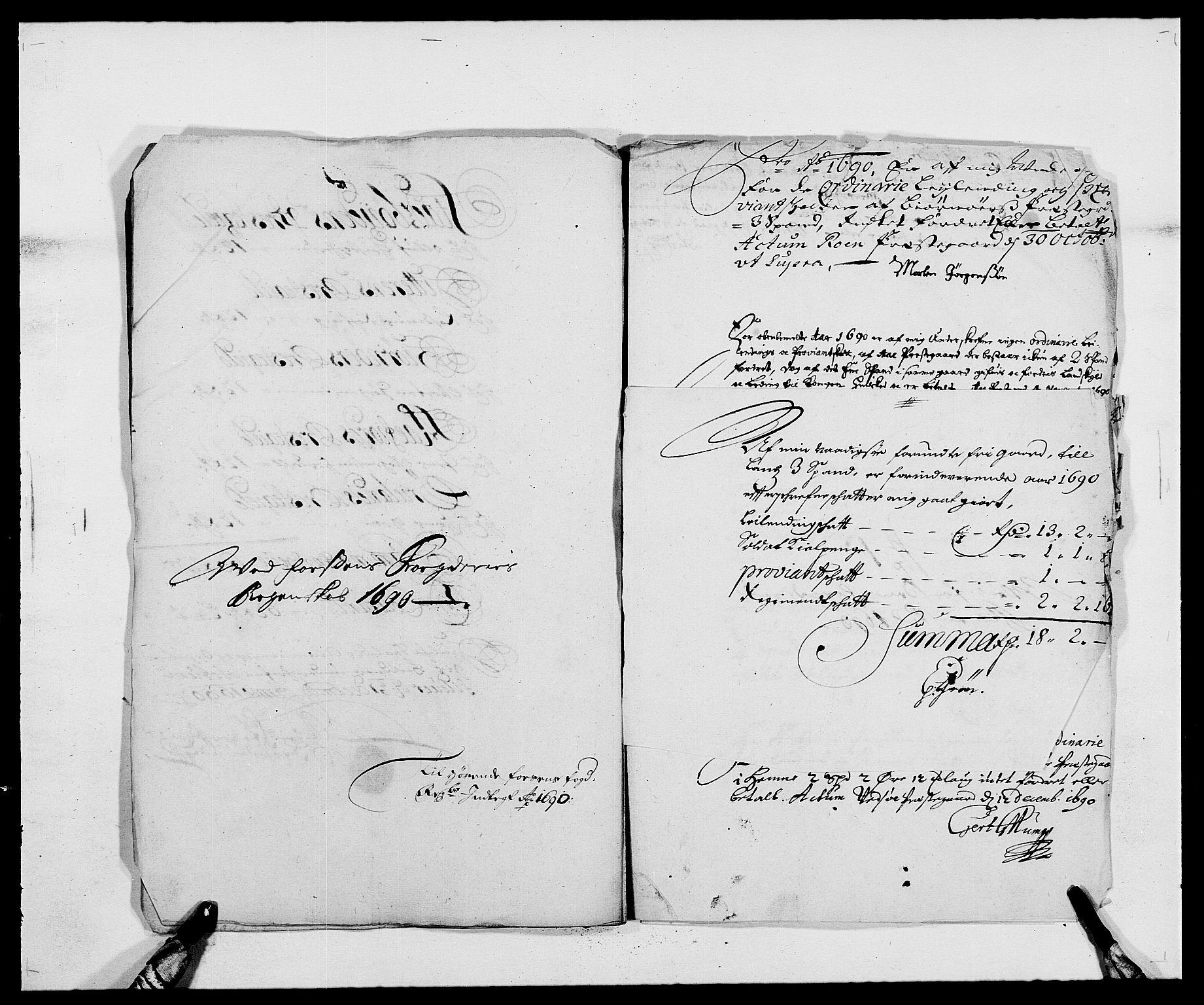 RA, Rentekammeret inntil 1814, Reviderte regnskaper, Fogderegnskap, R57/L3848: Fogderegnskap Fosen, 1690-1691, s. 189