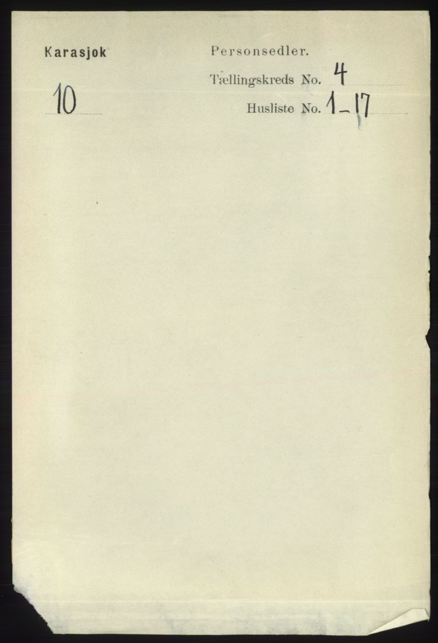 RA, Folketelling 1891 for 2021 Karasjok herred, 1891, s. 692