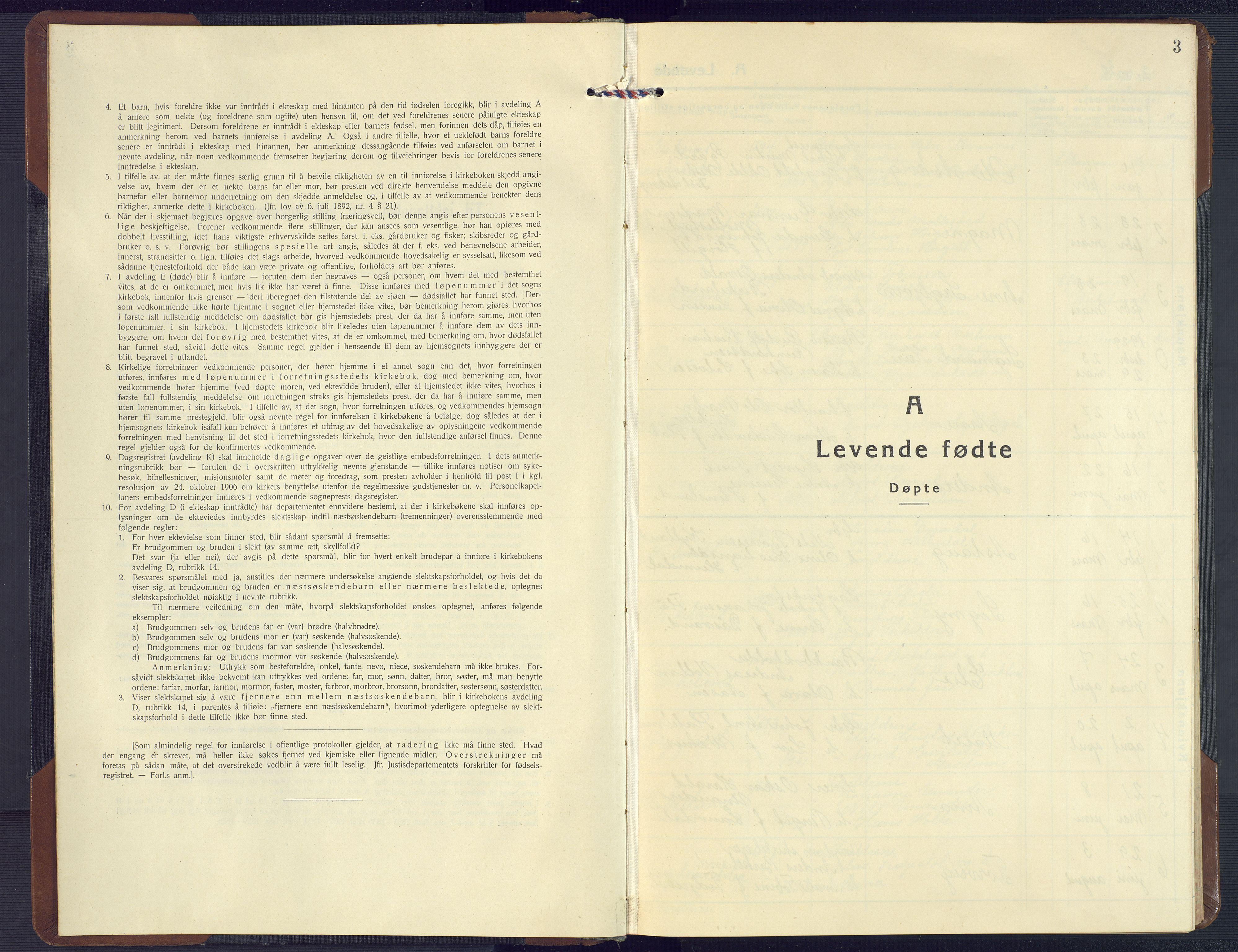 SAK, Birkenes sokneprestkontor, F/Fb/L0005: Klokkerbok nr. B 5, 1930-1957, s. 3