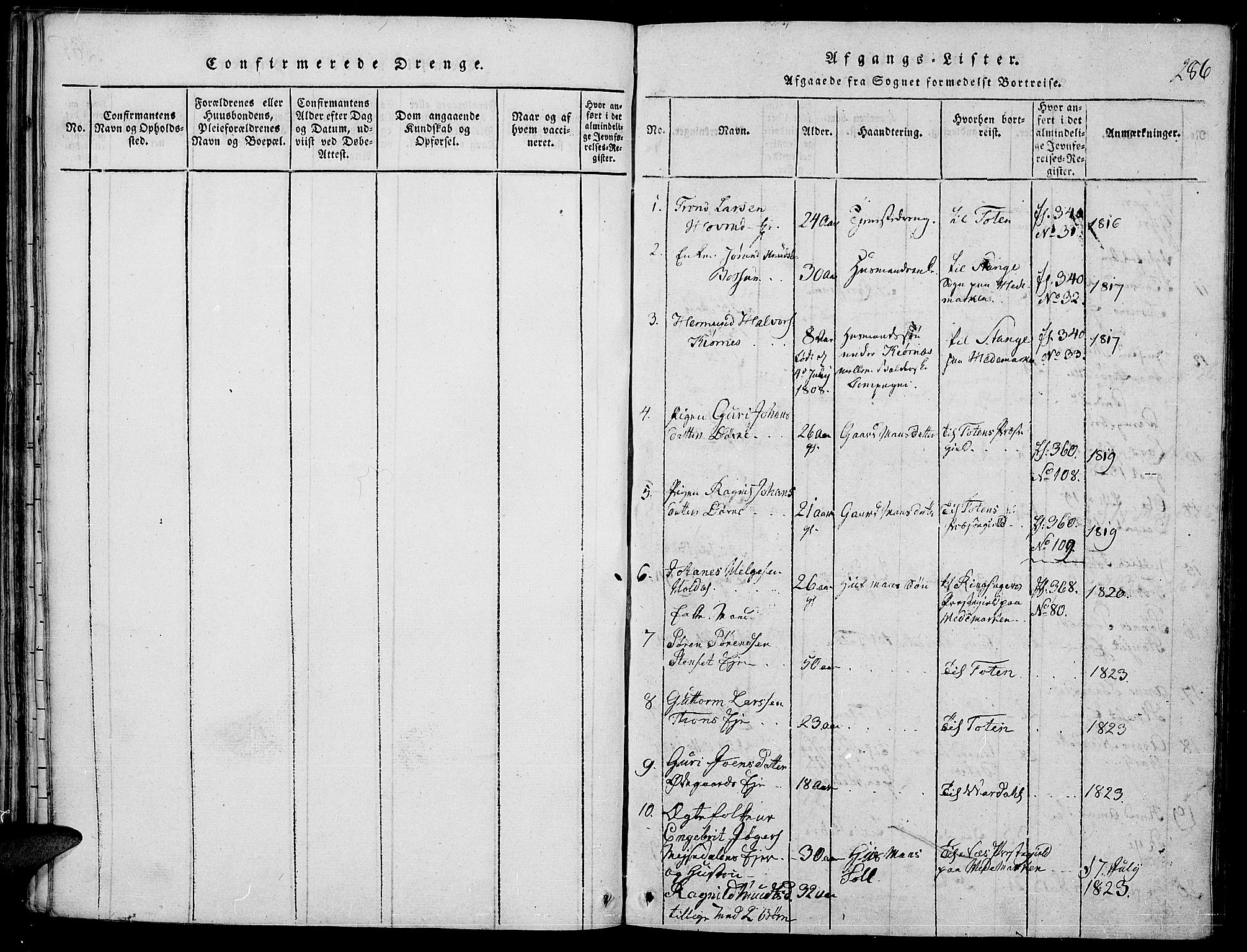 SAH, Nord-Aurdal prestekontor, Ministerialbok nr. 2, 1816-1828, s. 286