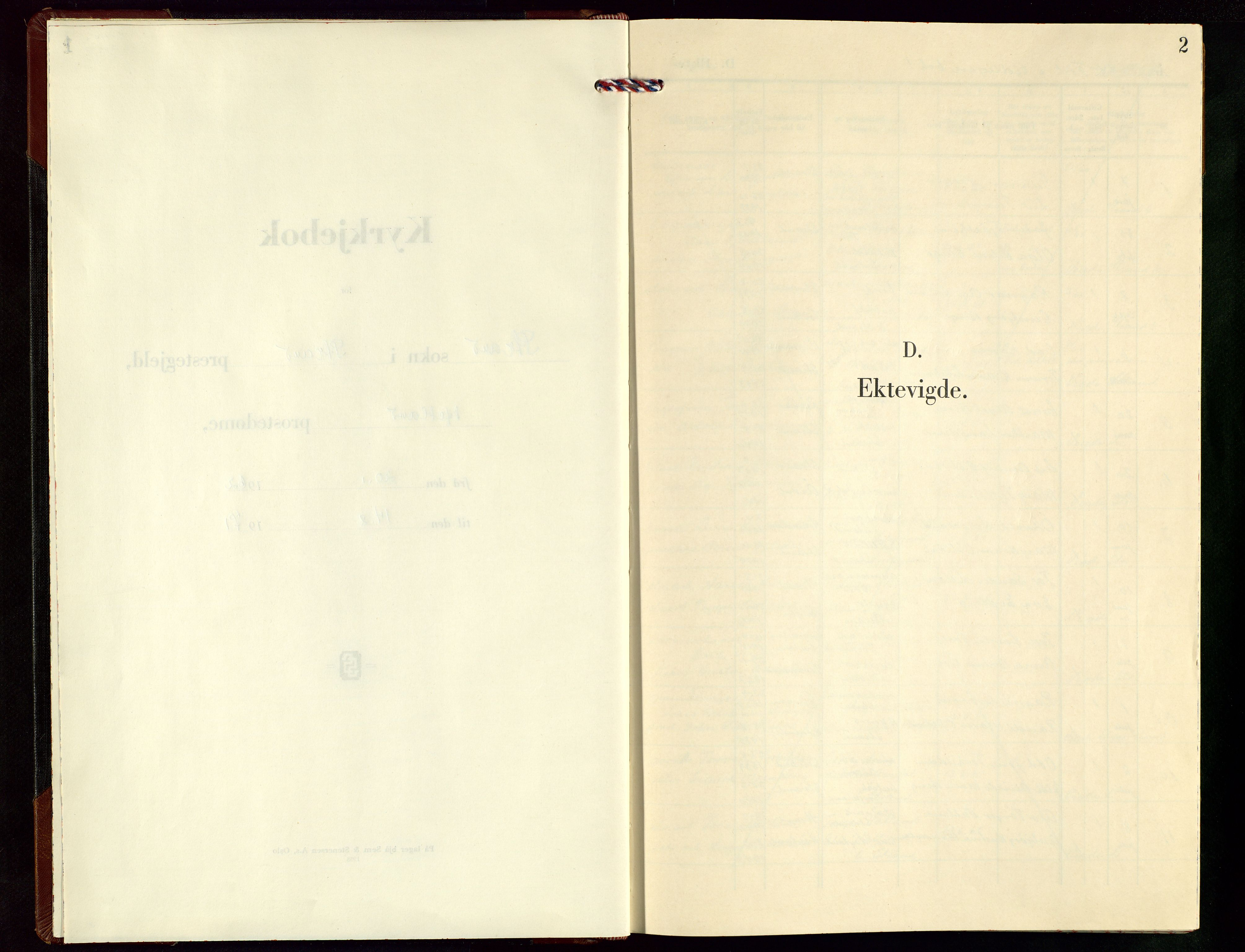 SAST, Strand sokneprestkontor, H/Ha/Hab/L0009: Klokkerbok nr. B 9, 1962-1971, s. 2