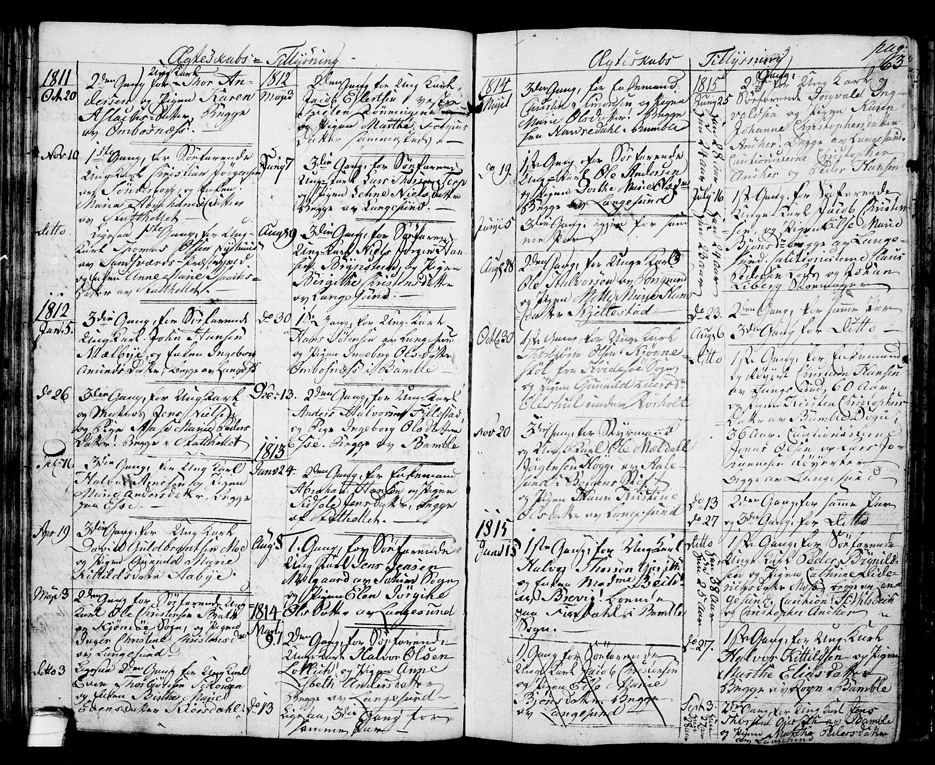 SAKO, Langesund kirkebøker, G/Ga/L0002: Klokkerbok nr. 2, 1801-1815, s. 63
