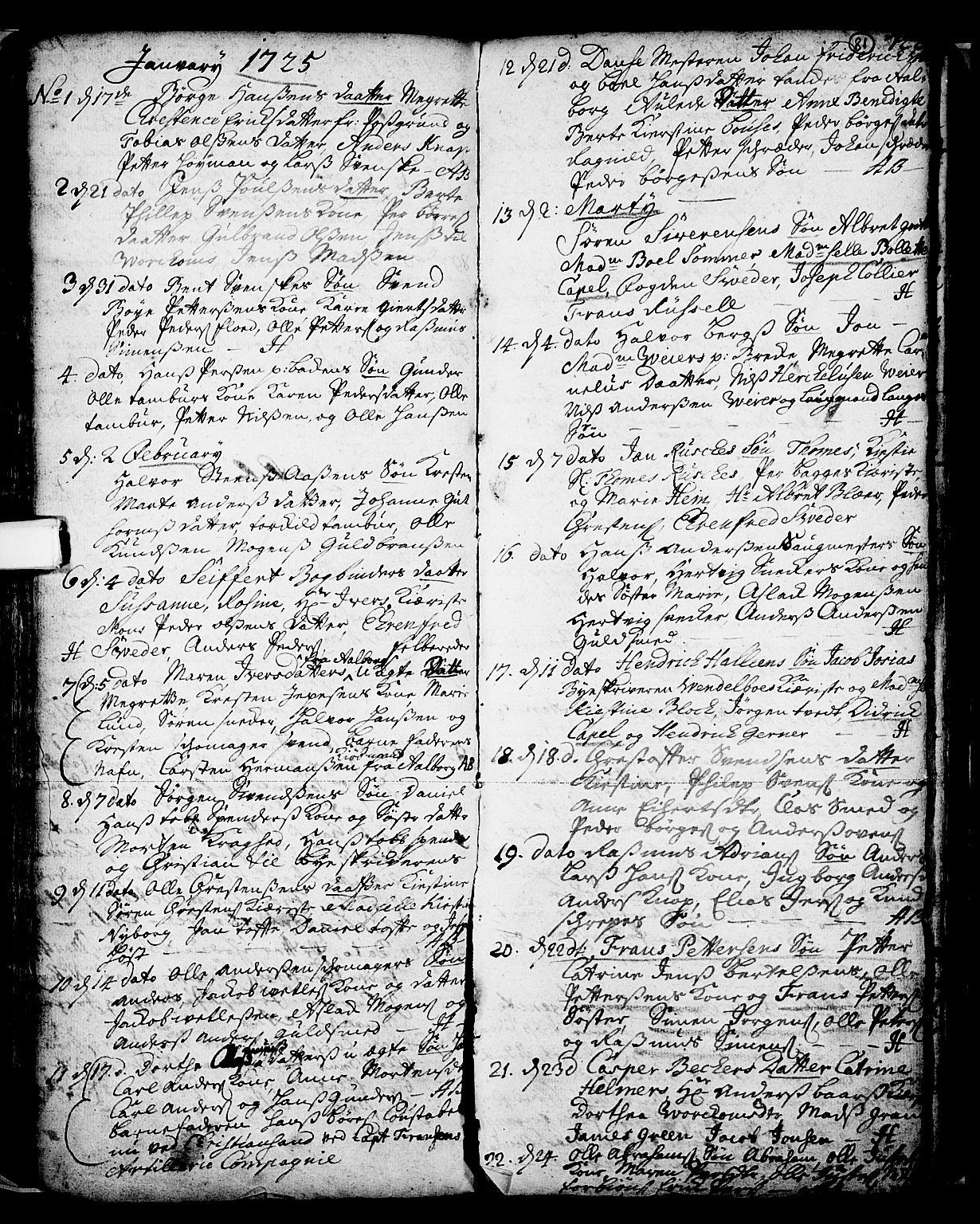 SAKO, Skien kirkebøker, F/Fa/L0002: Ministerialbok nr. 2, 1716-1757, s. 81